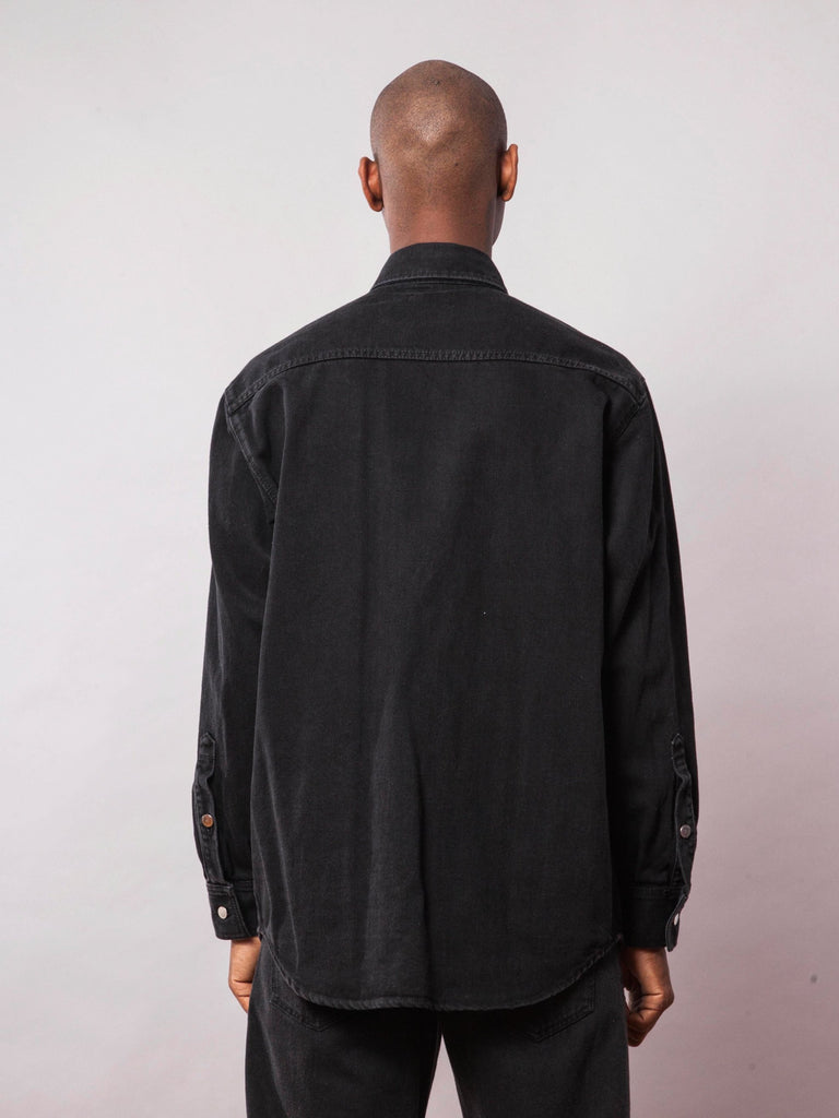Black Carry Over Denim Shirt 442072408073