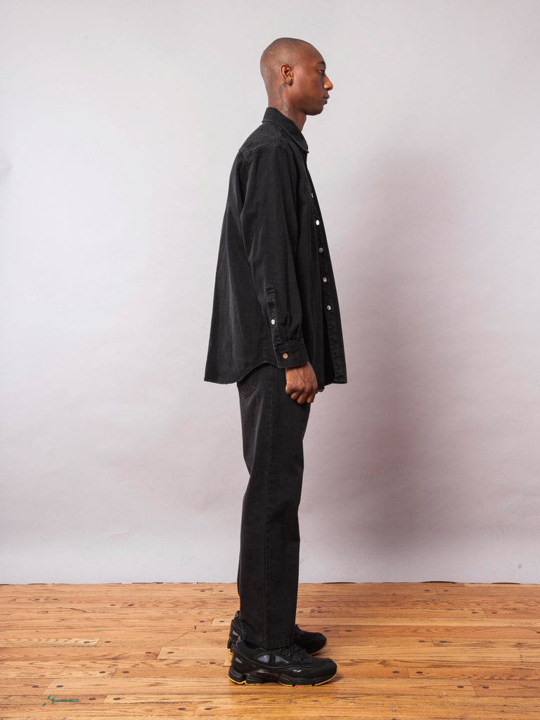 Black Carry Over Denim Shirt 542073358345