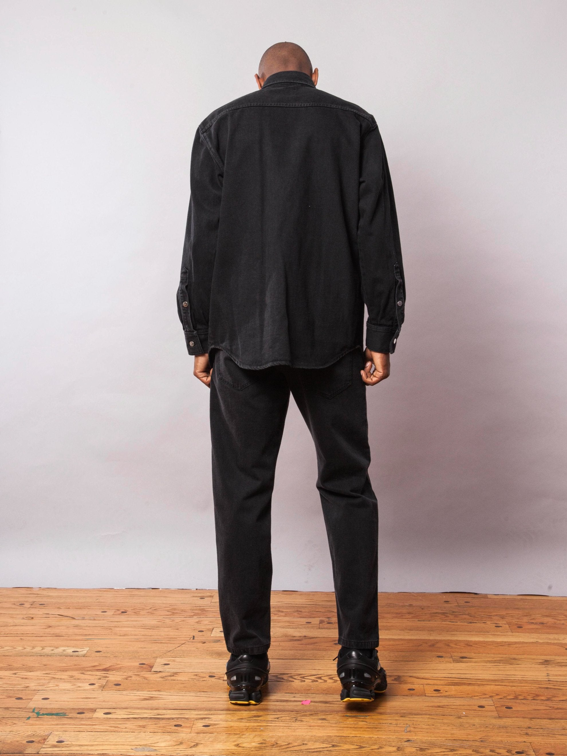 Black Carry Over Denim Shirt 6