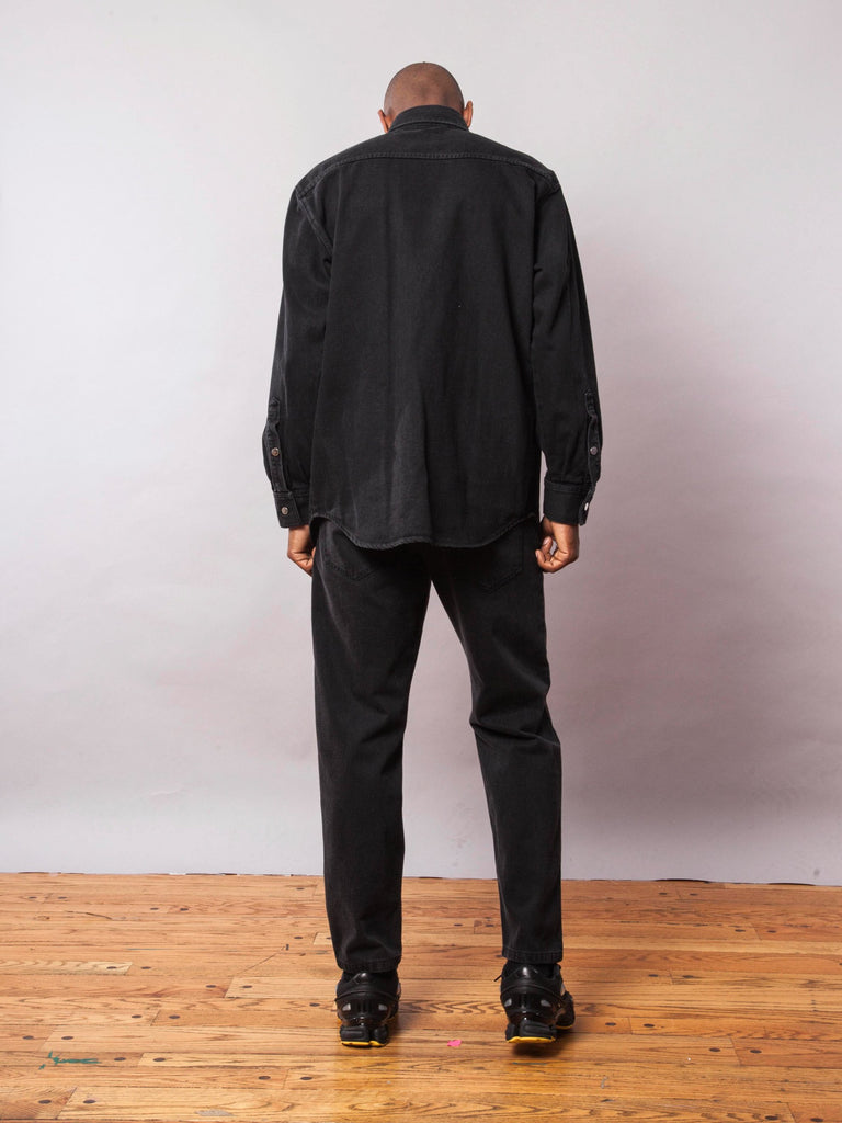 Black Carry Over Denim Shirt 642074603529