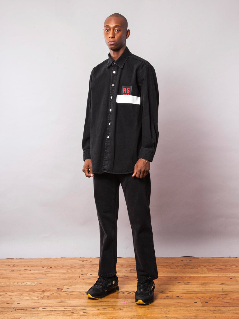 Black Carry Over Denim Shirt 742074701833
