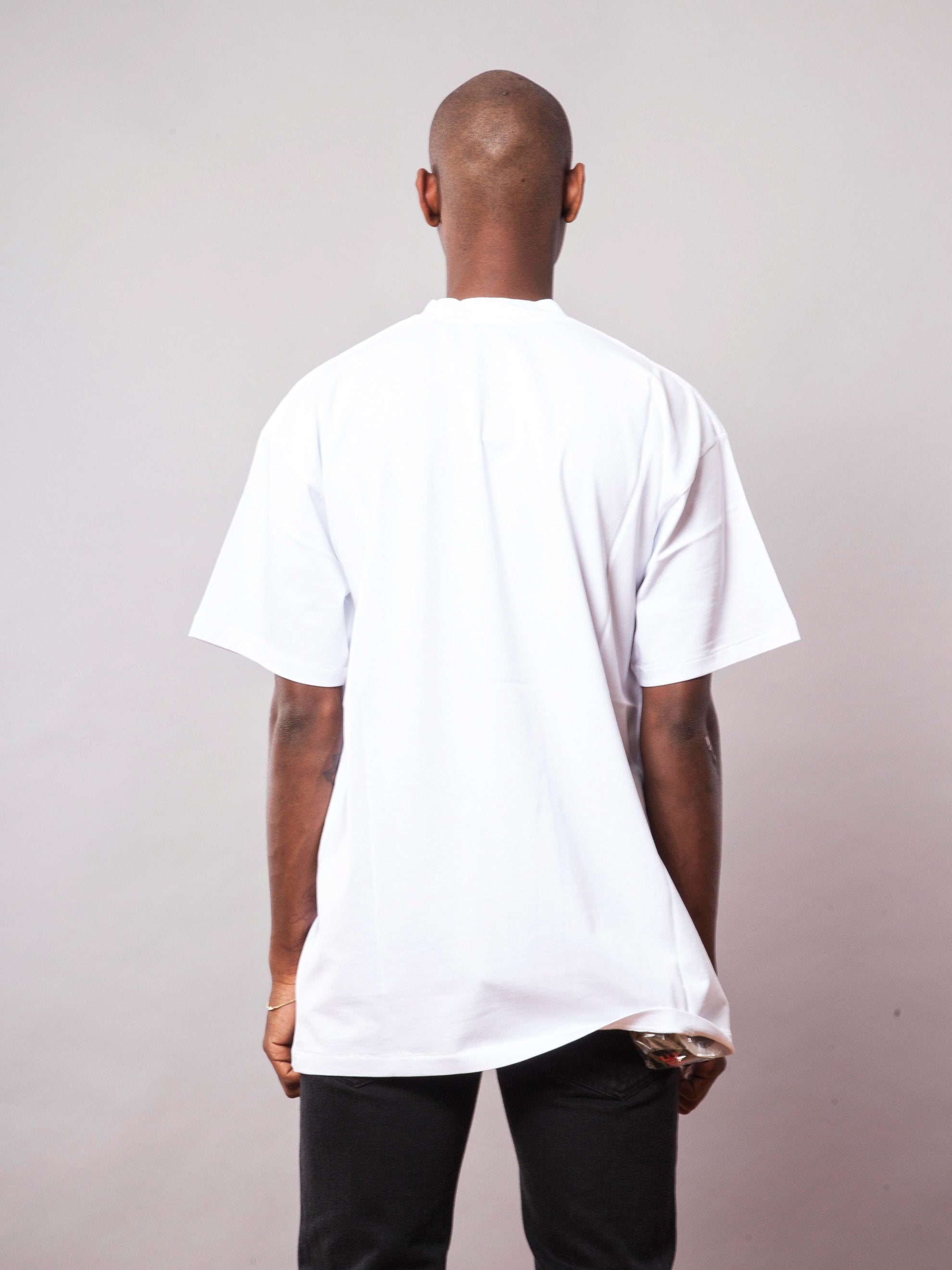 White Thank You T-Shirt (Big Fit) 4