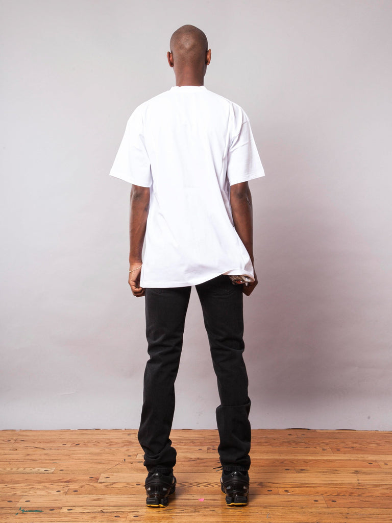 White Thank You T-Shirt (Big Fit) 541929342985