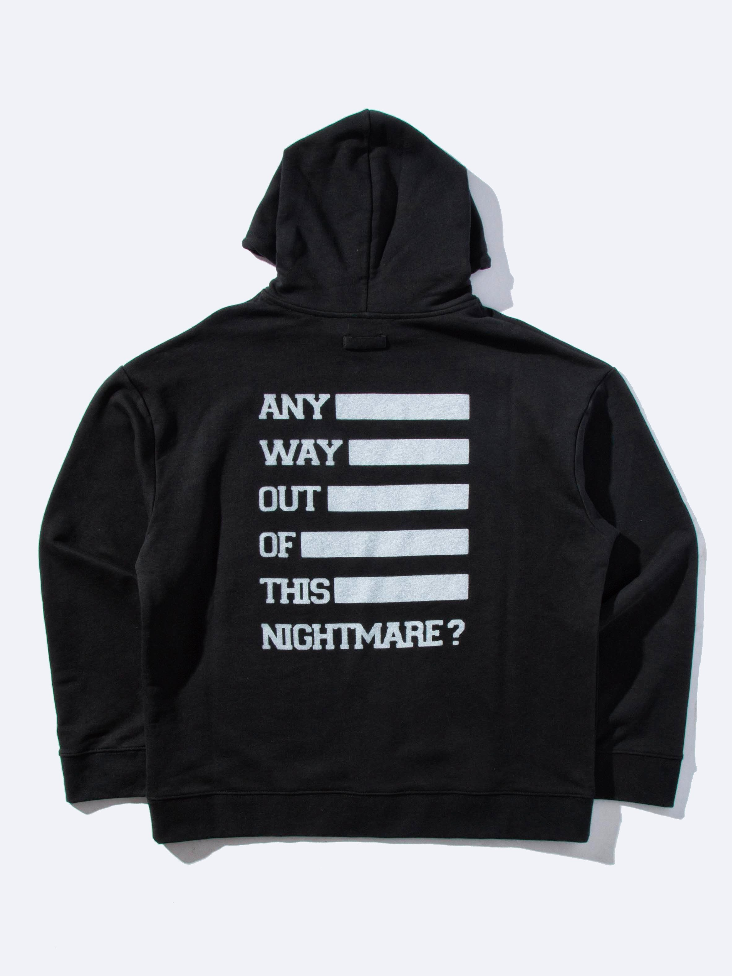 Black Any Way Out Hooded Sweatshirt 1