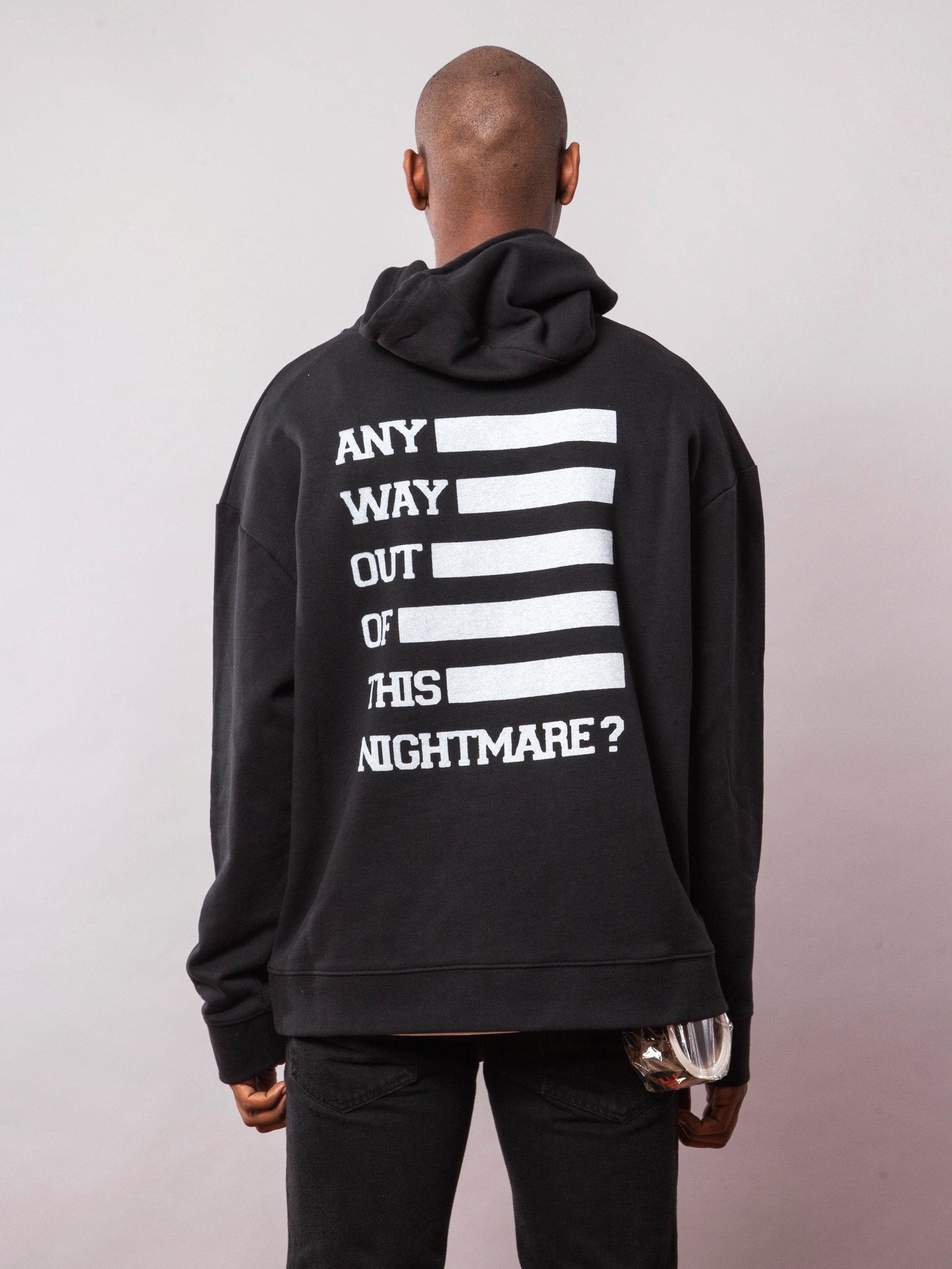 Black Any Way Out Hooded Sweatshirt 4
