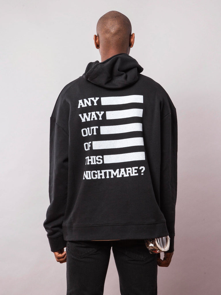 Black Any Way Out Hooded Sweatshirt 441944842249