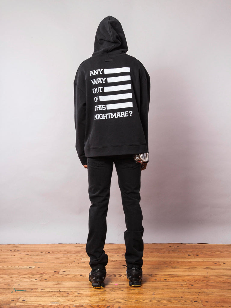 Black Any Way Out Hooded Sweatshirt 741945563145