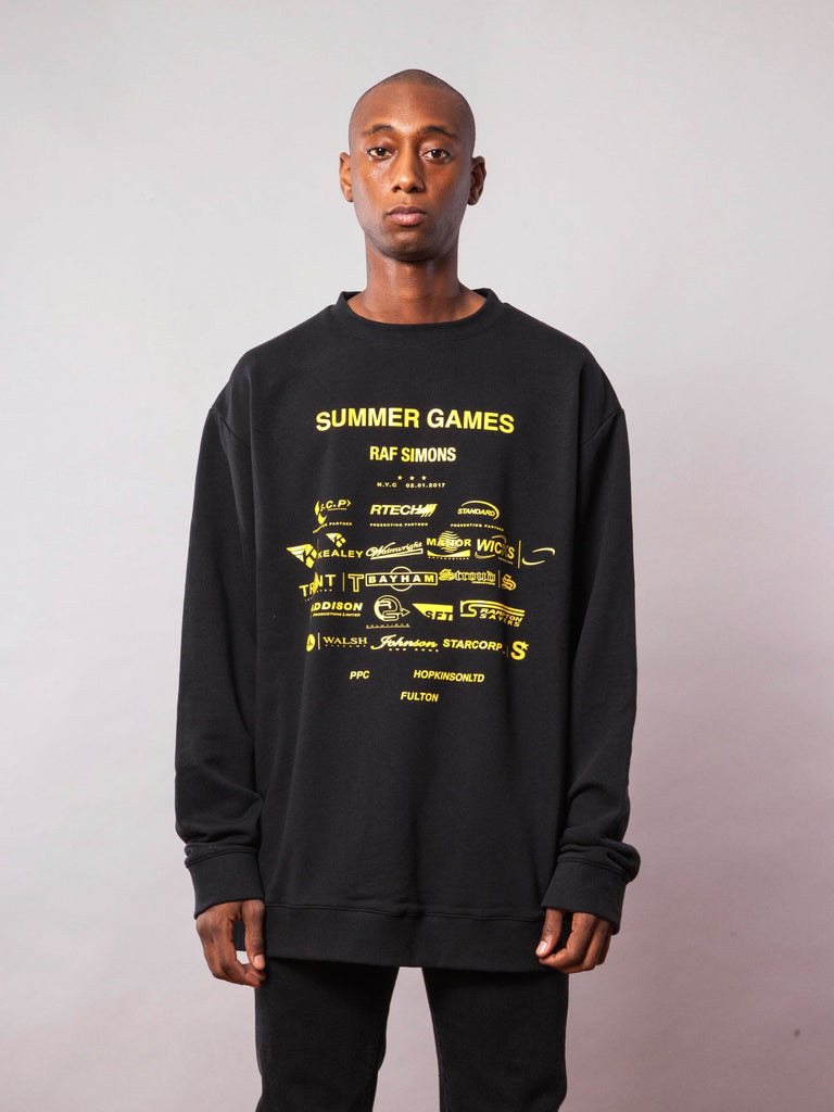 Black Oversized Sweatshirt (with Print) 241951035401