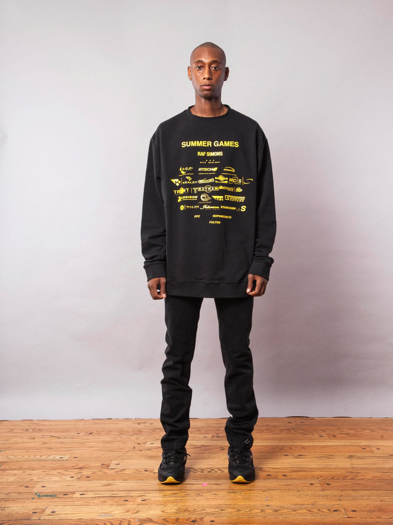 Black Oversized Sweatshirt (with Print) 341951625225