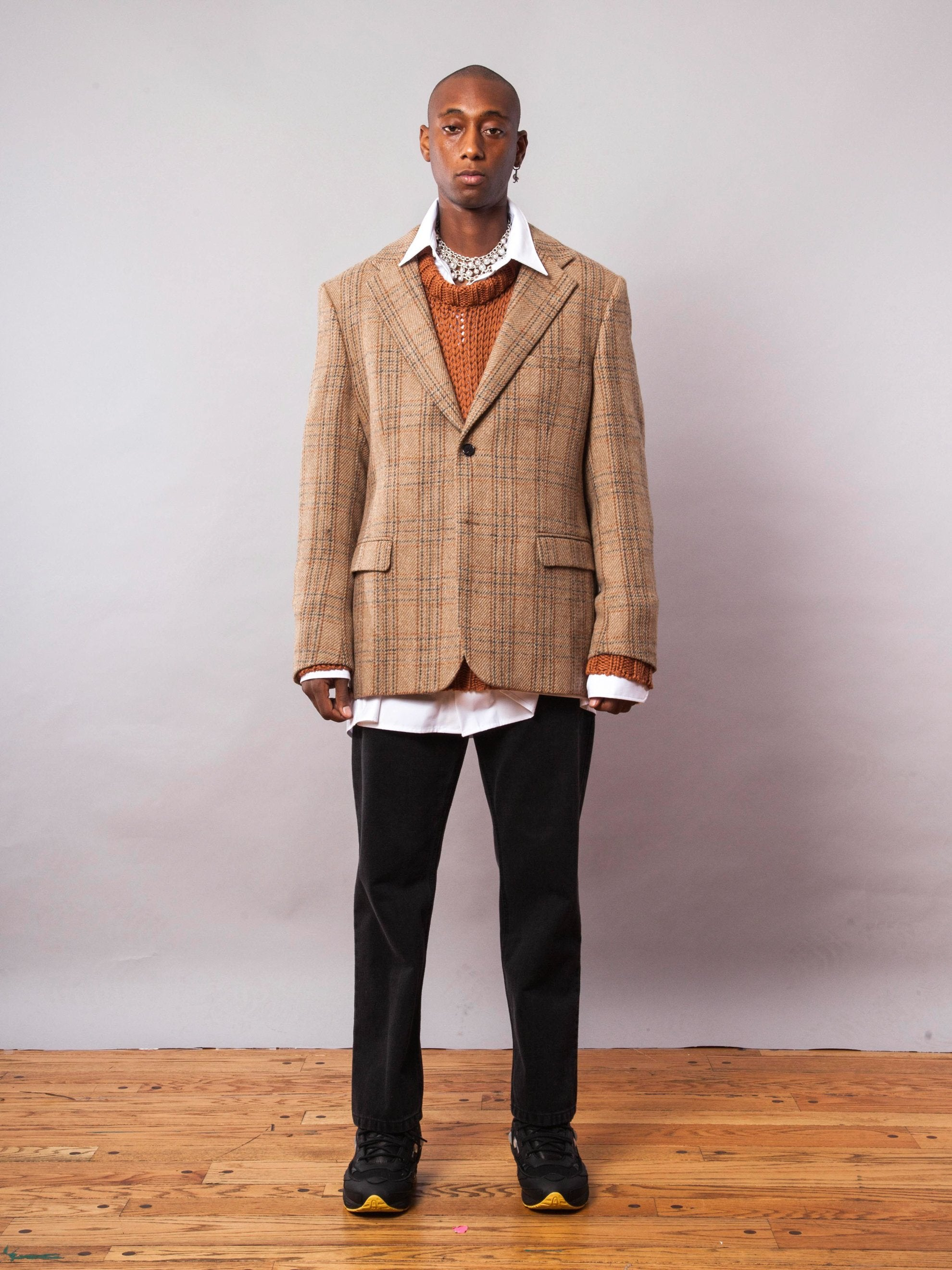 Camel Easy Fit Blazer 3