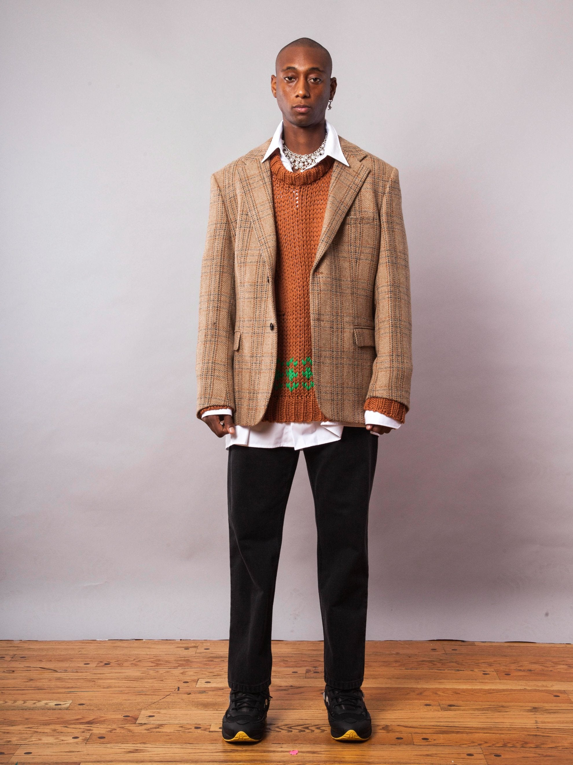 Camel Easy Fit Blazer 4
