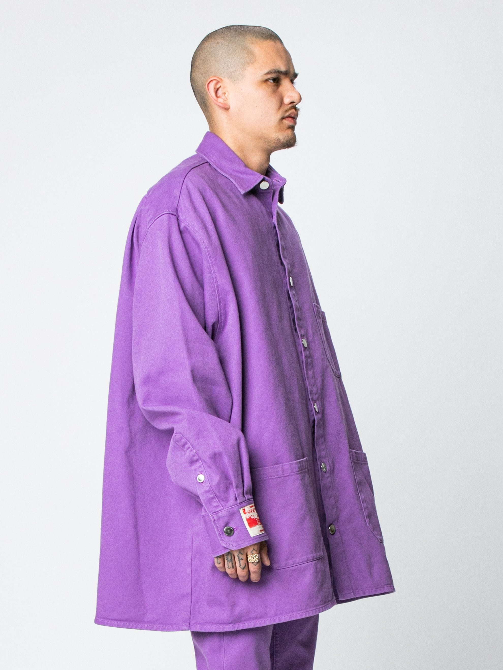 Purple Big Fit Denim Shirt 4
