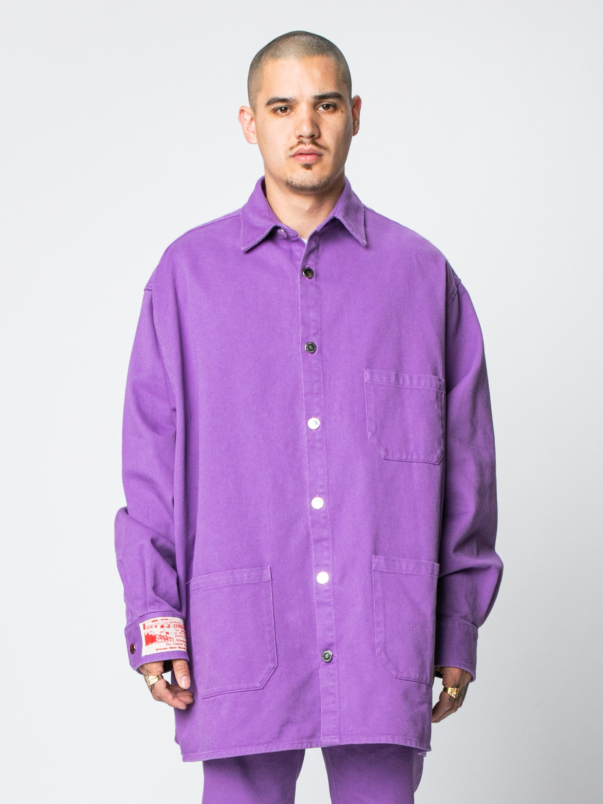 Purple Big Fit Denim Shirt 2