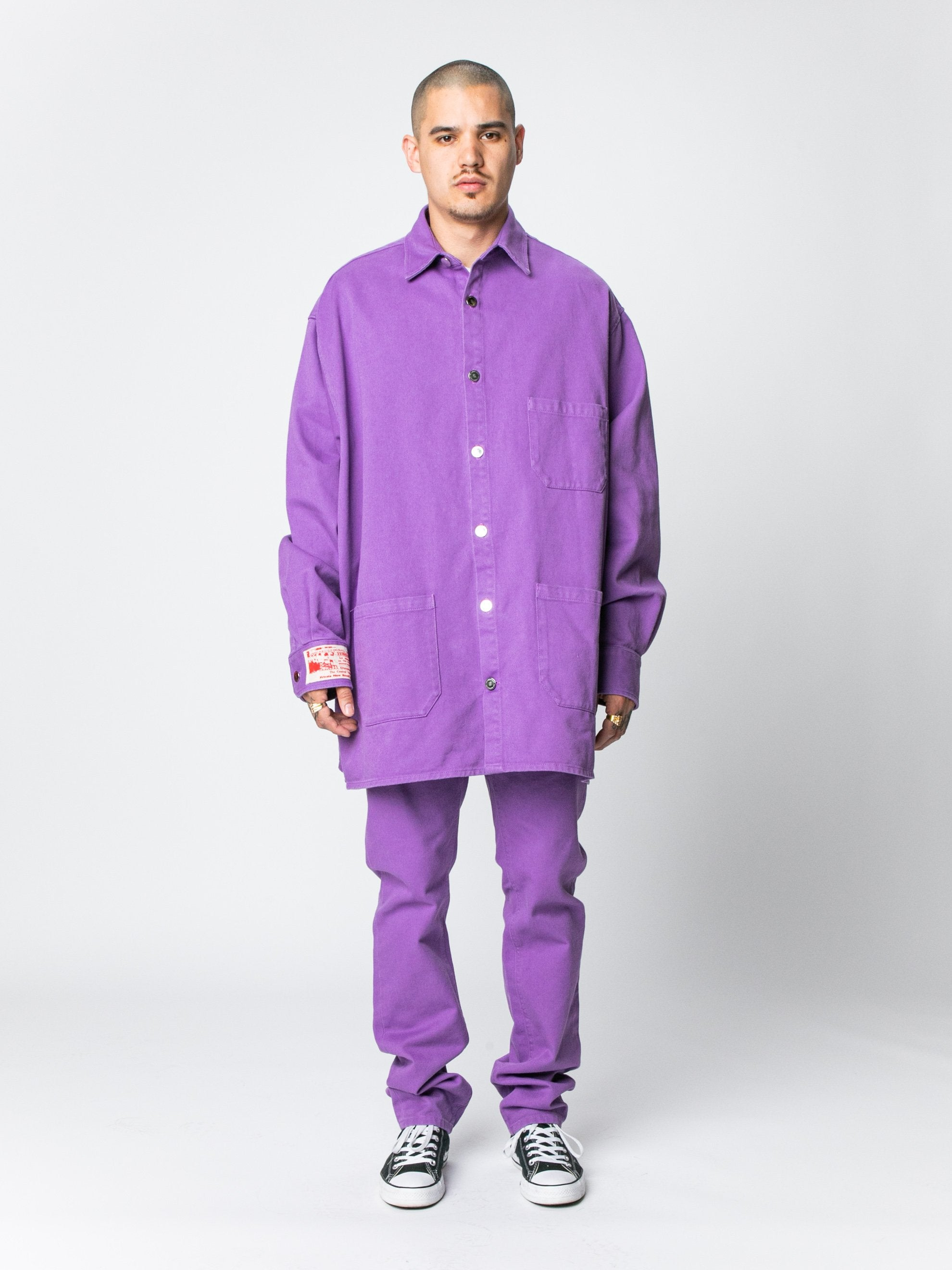 Purple Big Fit Denim Shirt 3
