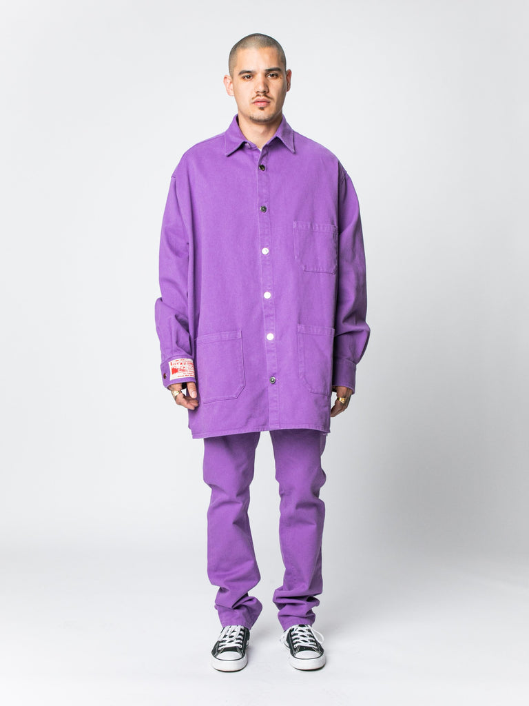 Purple Big Fit Denim Shirt 314326353461325