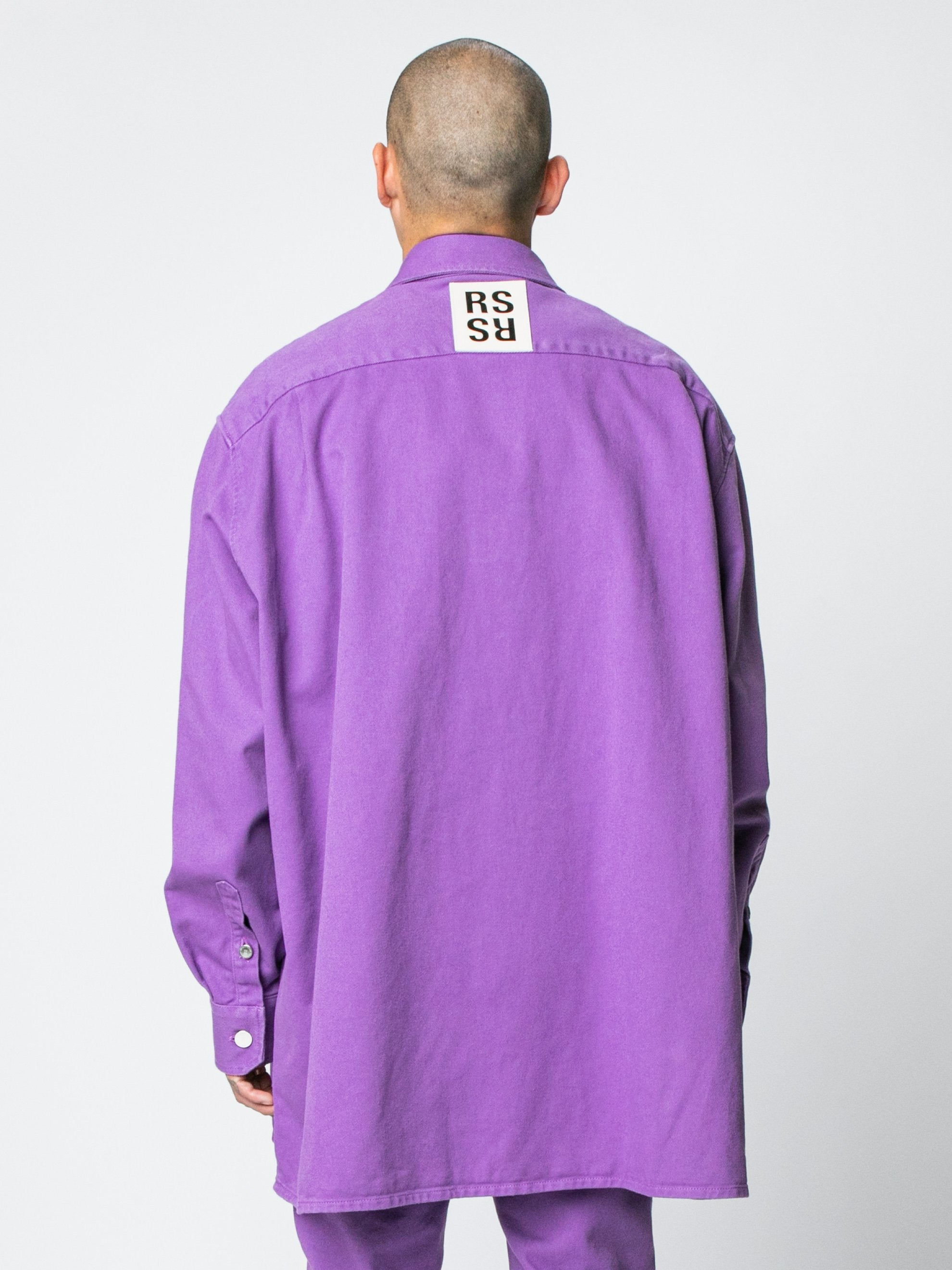 Purple Big Fit Denim Shirt 6