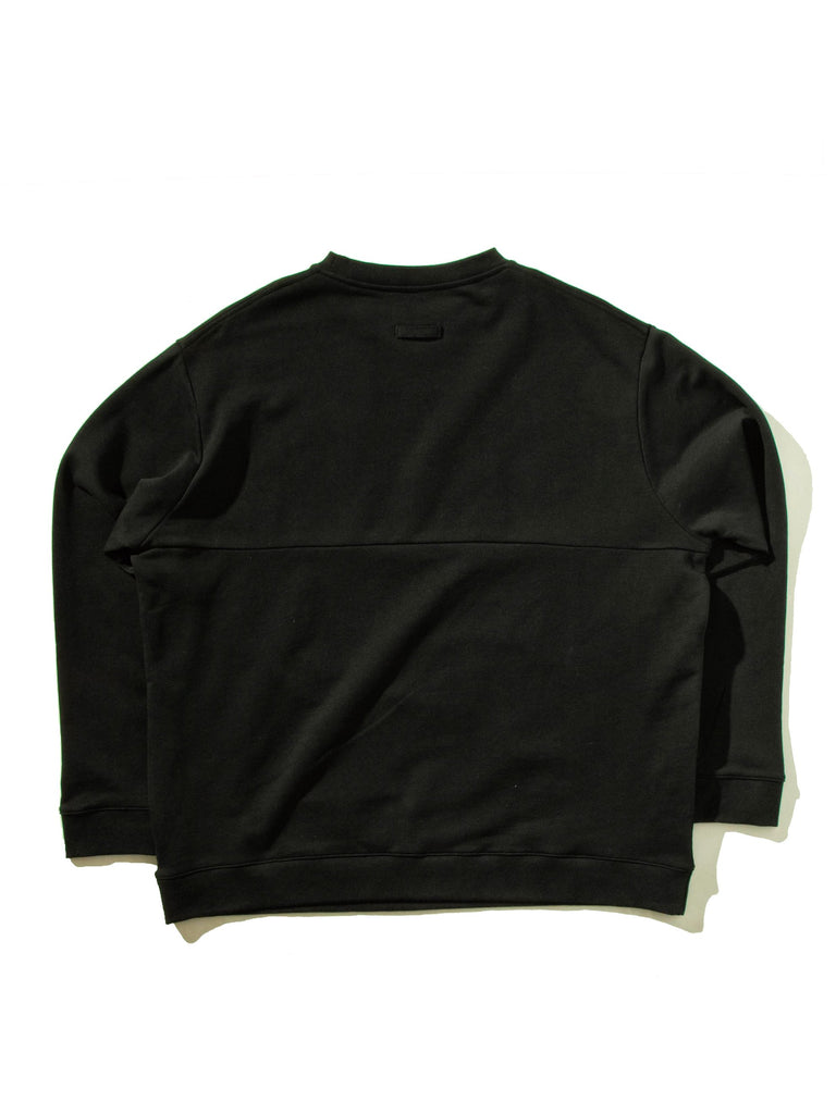 Black Oversized Sweatshirt (with Print) 945301235721