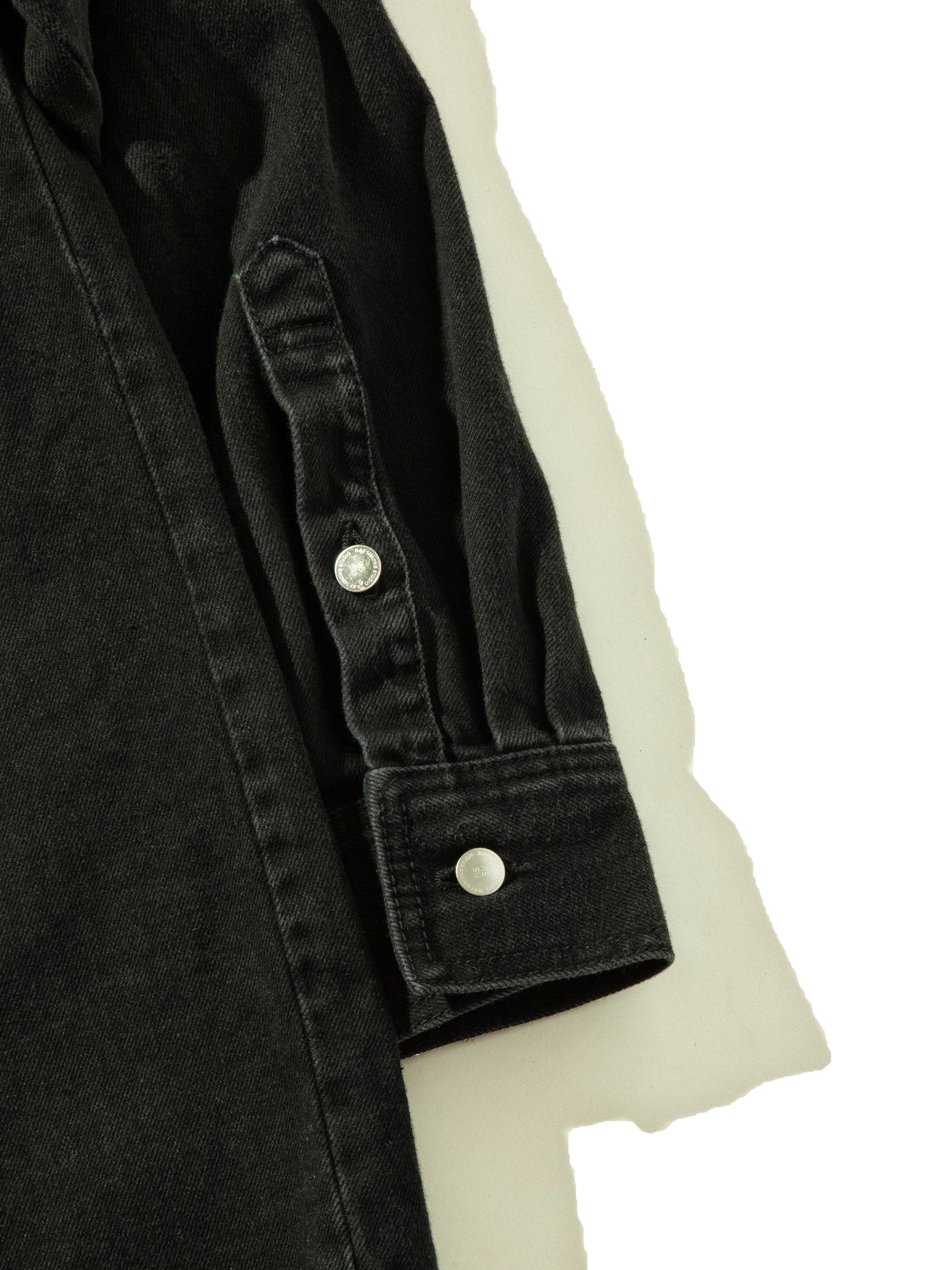 Black Carry Over Denim Shirt 9