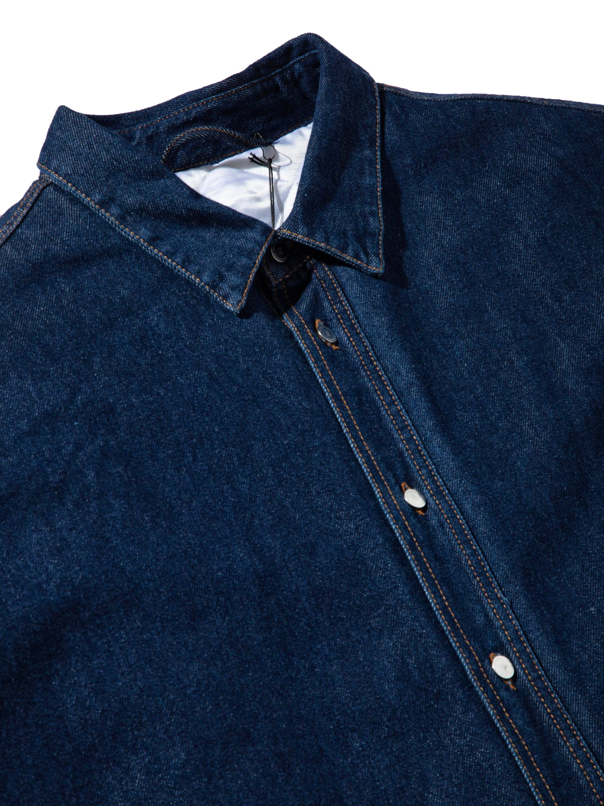 Dark Navy Quilted Denim Shirt 8