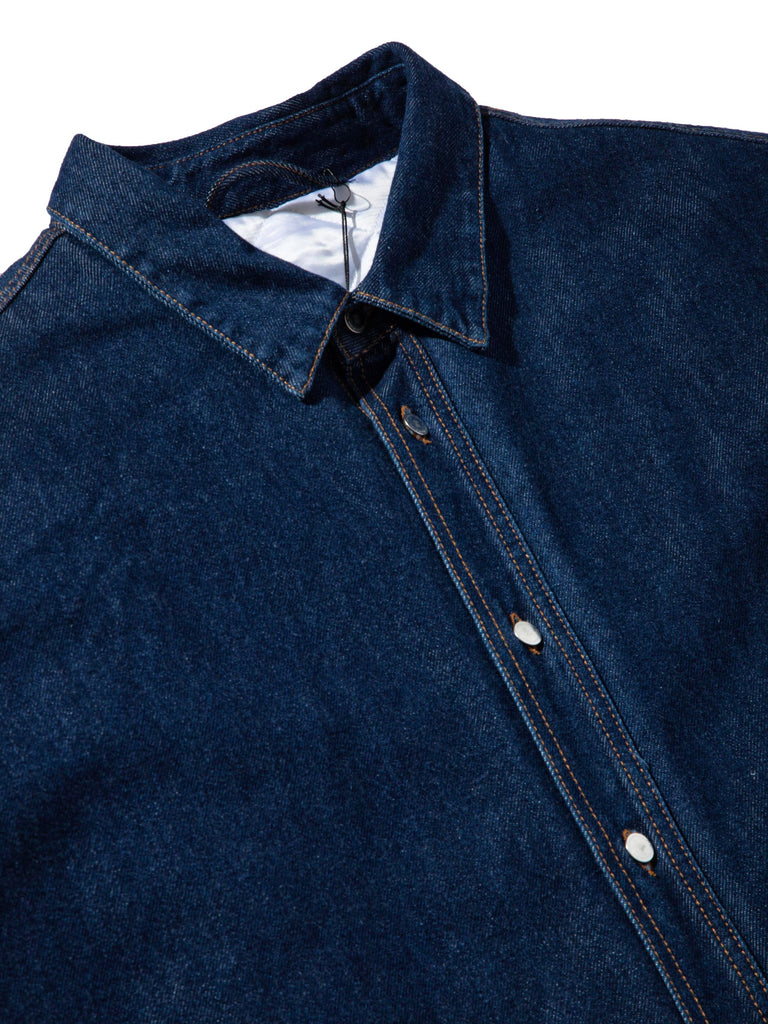 Dark Navy Quilted Denim Shirt 845306281993