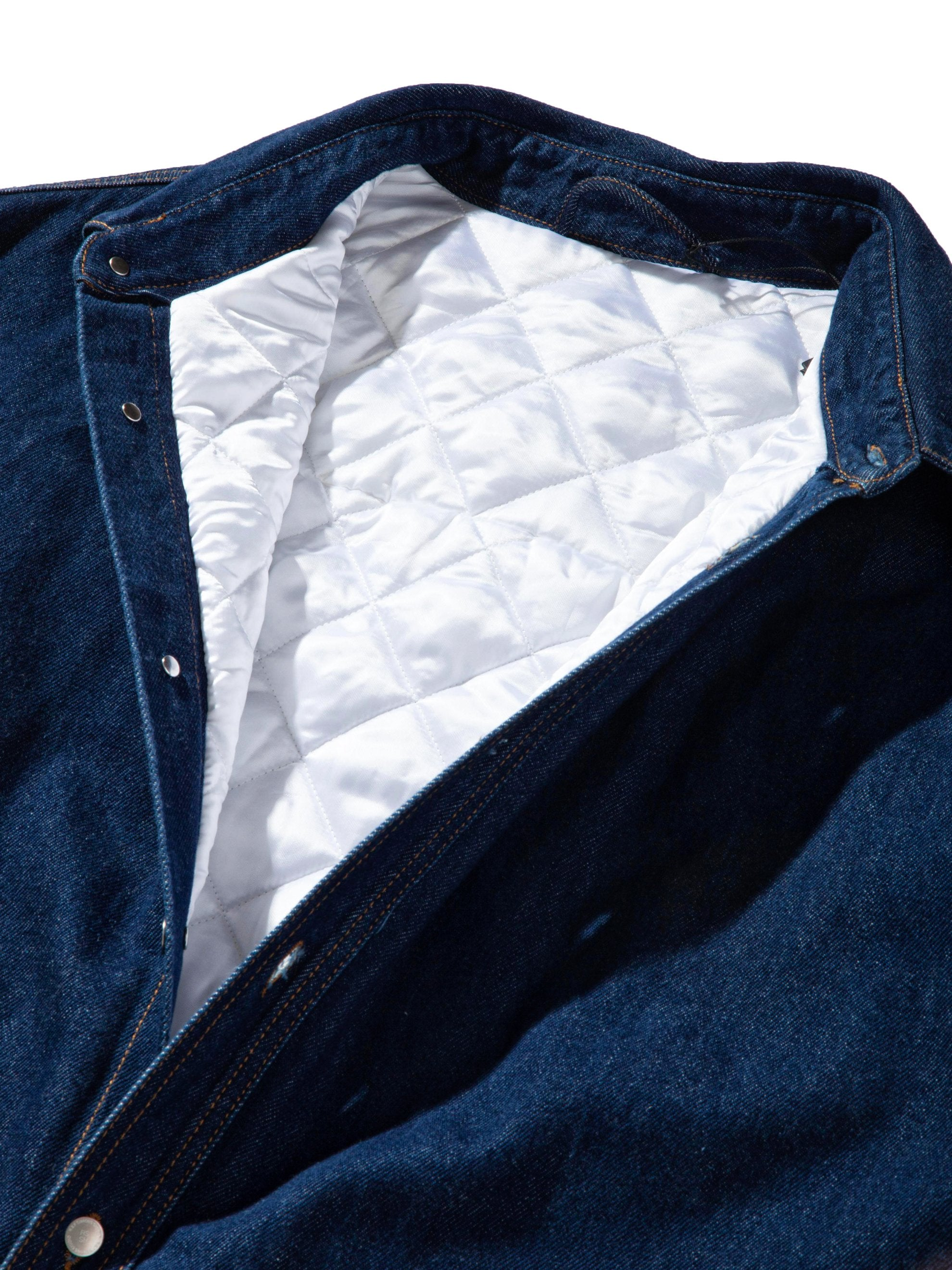 Dark Navy Quilted Denim Shirt 9