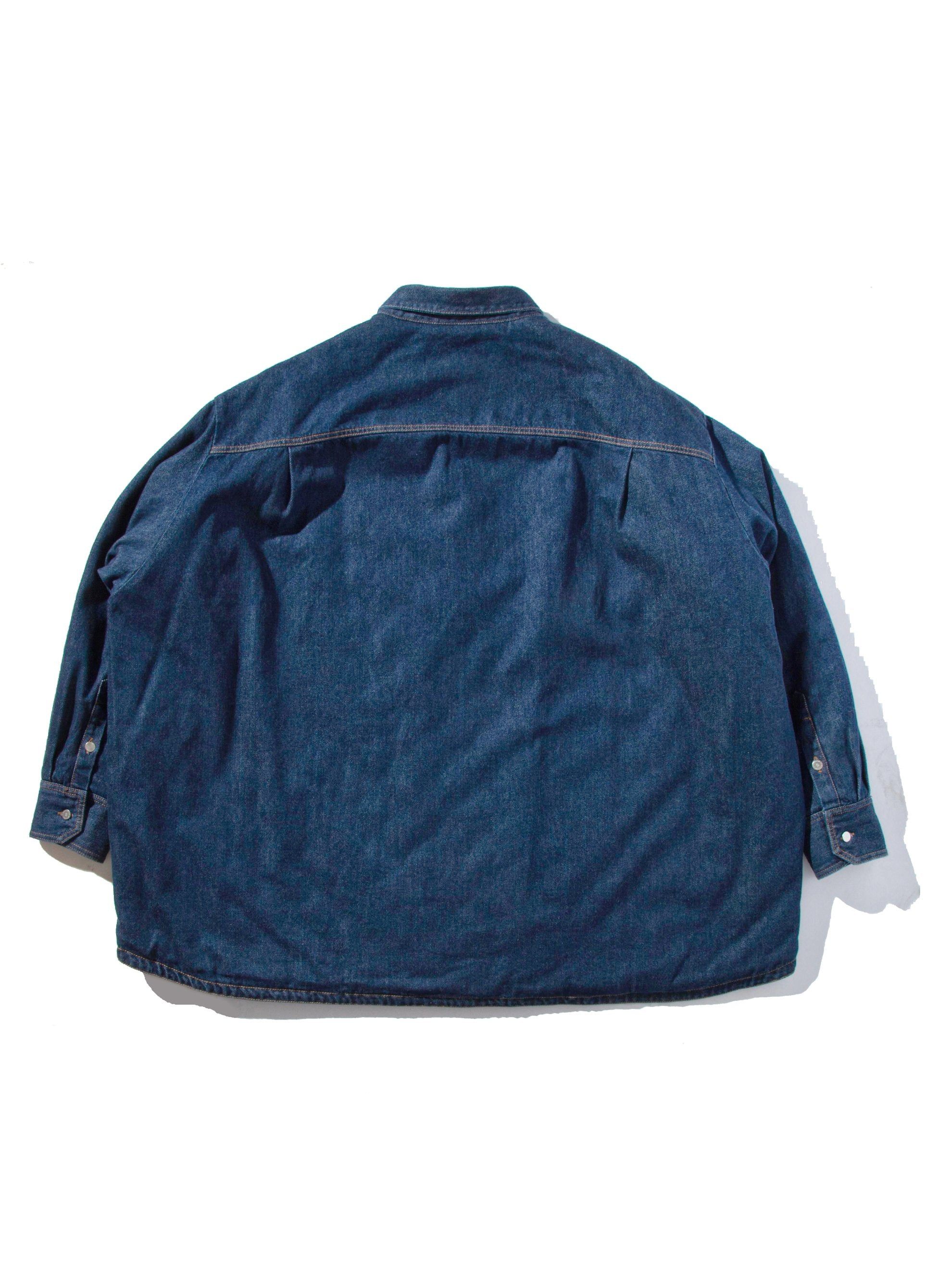 Dark Navy Quilted Denim Shirt 10