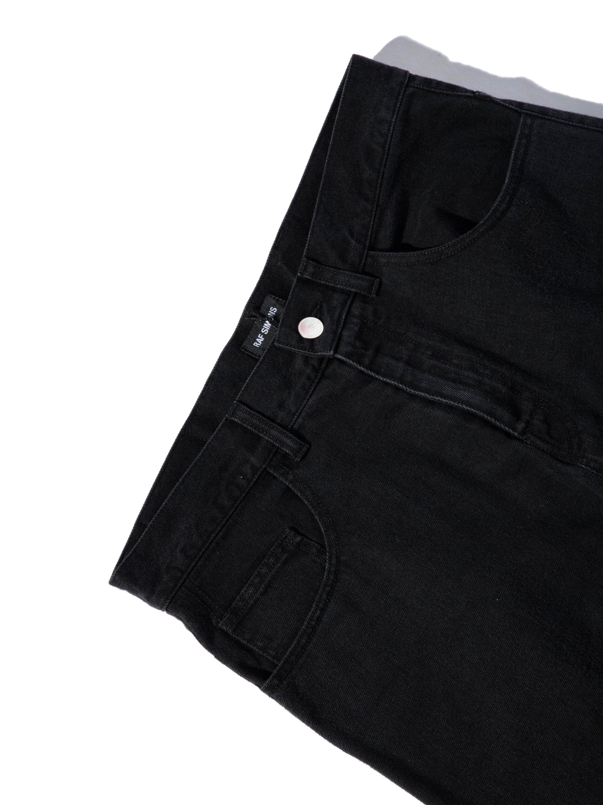 Black Low Crotch Jeans 7
