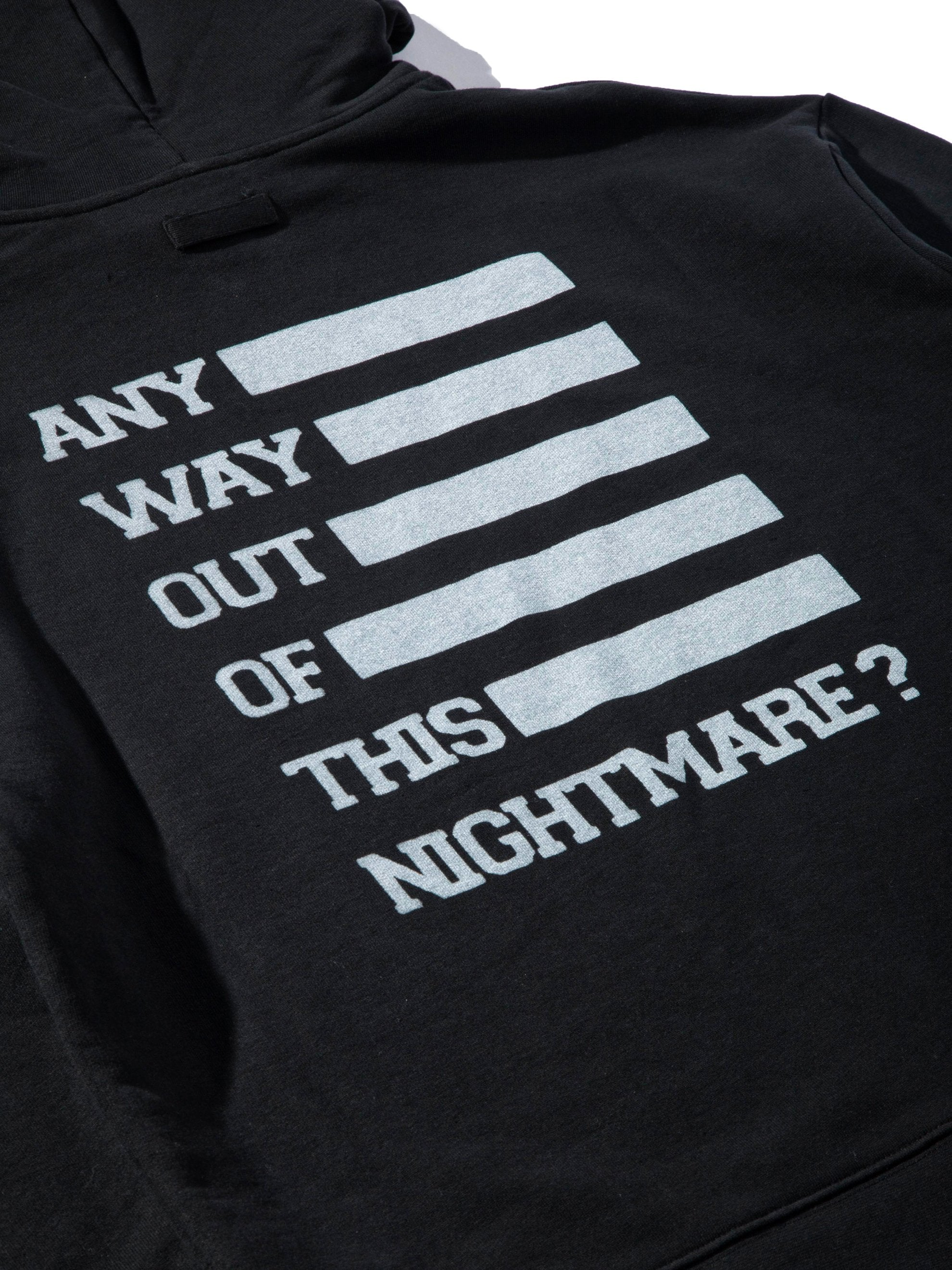 Black Any Way Out Hooded Sweatshirt 10