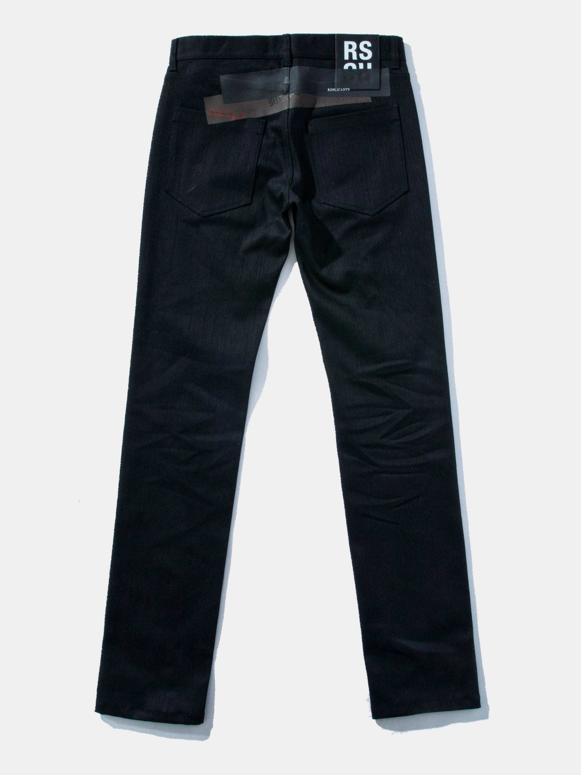Black Denim Regular Fit Pants 1
