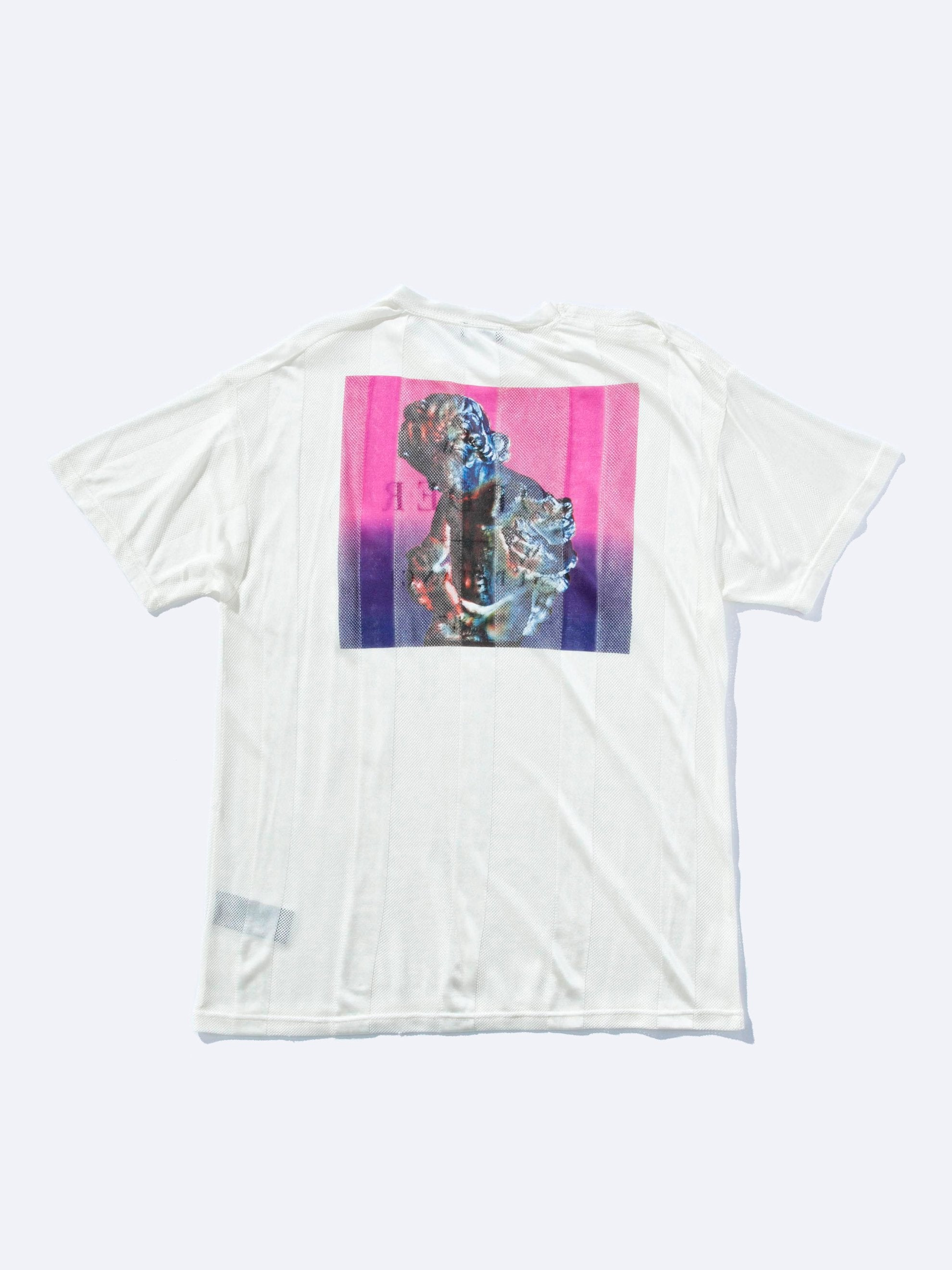 White Regular Fit Net New Order T-Shirt 1