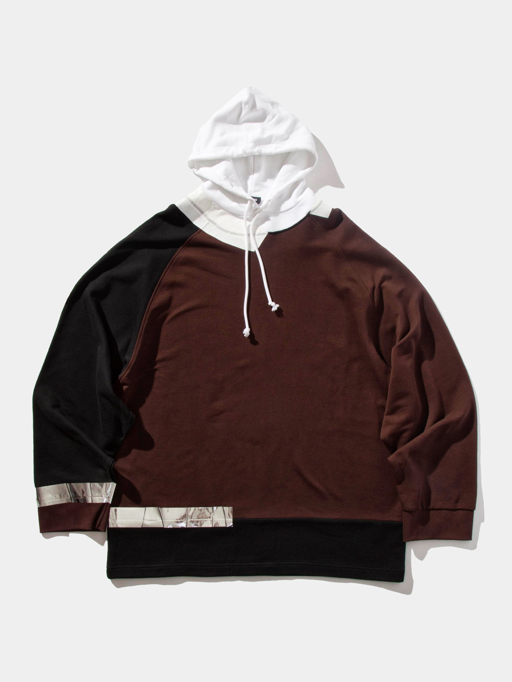 White/Red Oversized Hooded Sweatshirt (Tape) 1