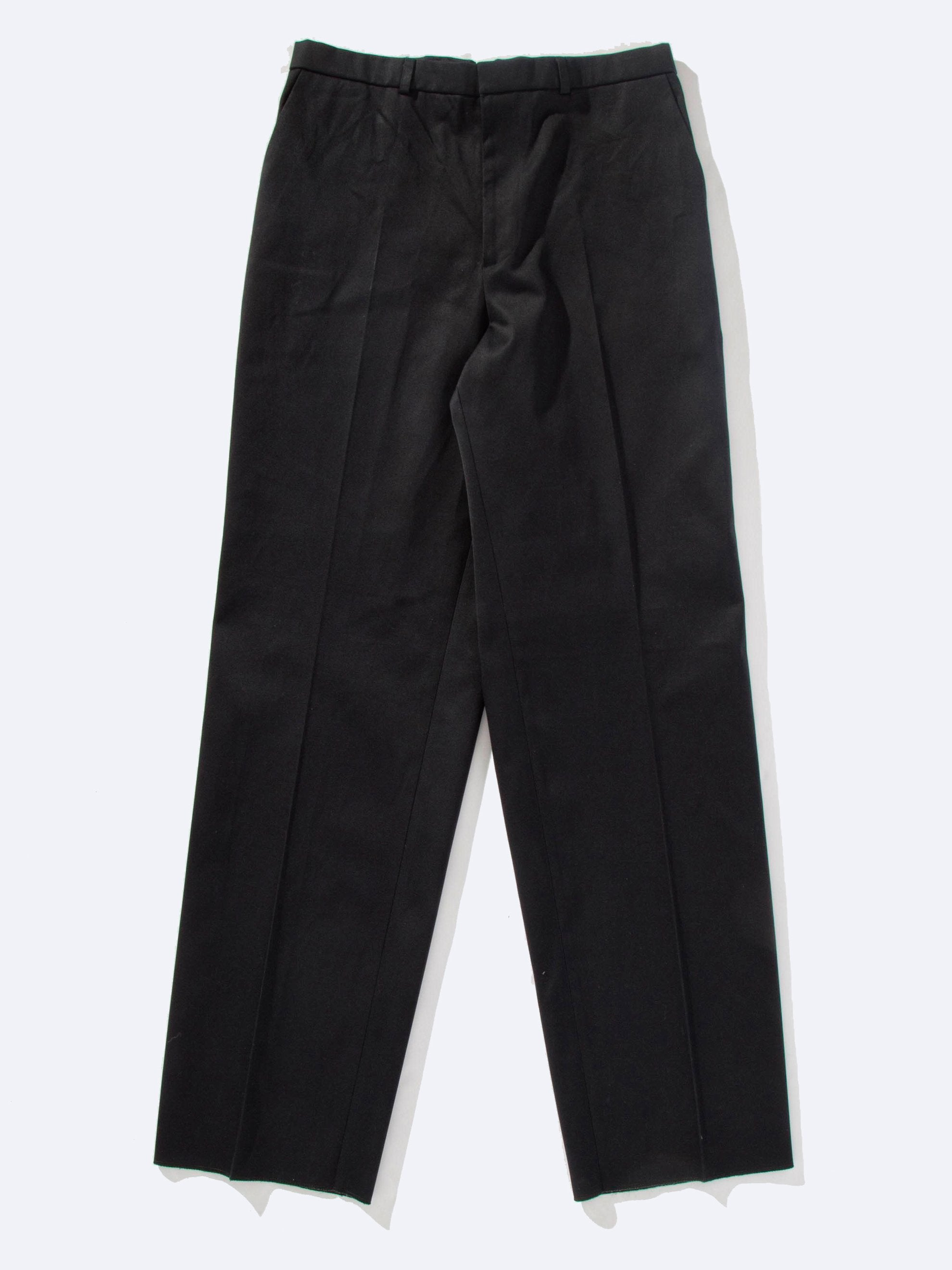 Navy Wide Leg Pant (Tape and Pleats) 1