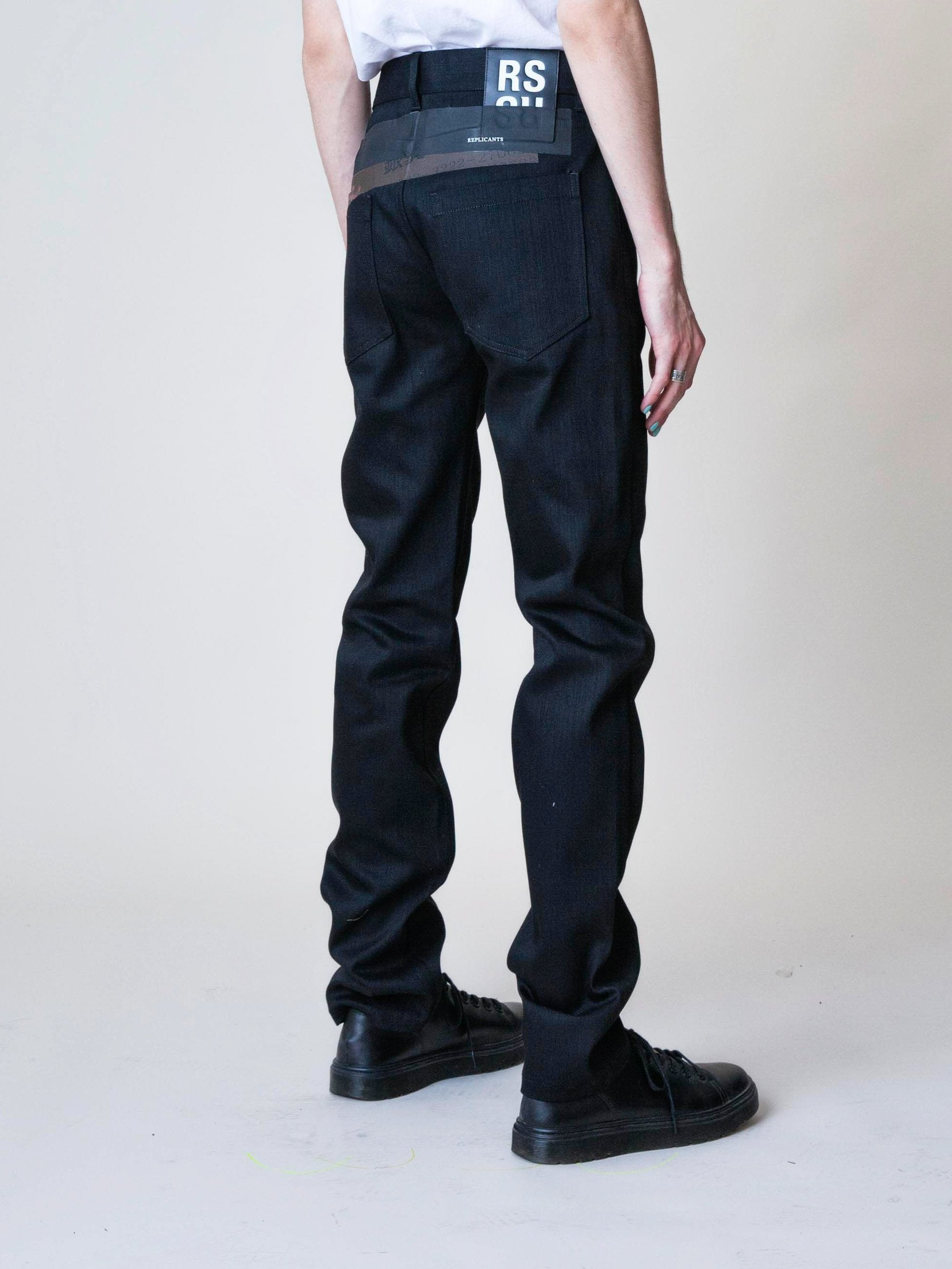 Black Denim Regular Fit Pants 5