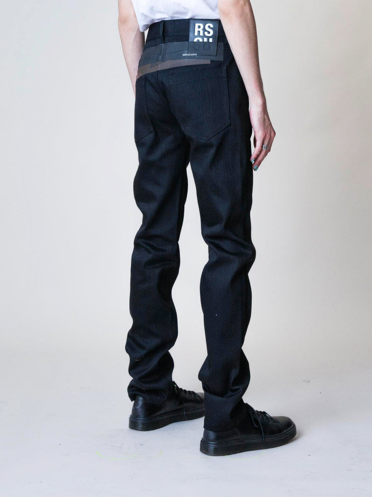 Black Denim Regular Fit Pants 513571904798797