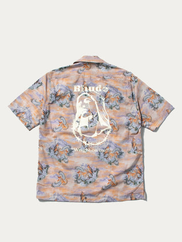 Eagle Short Sleeve Button Up
