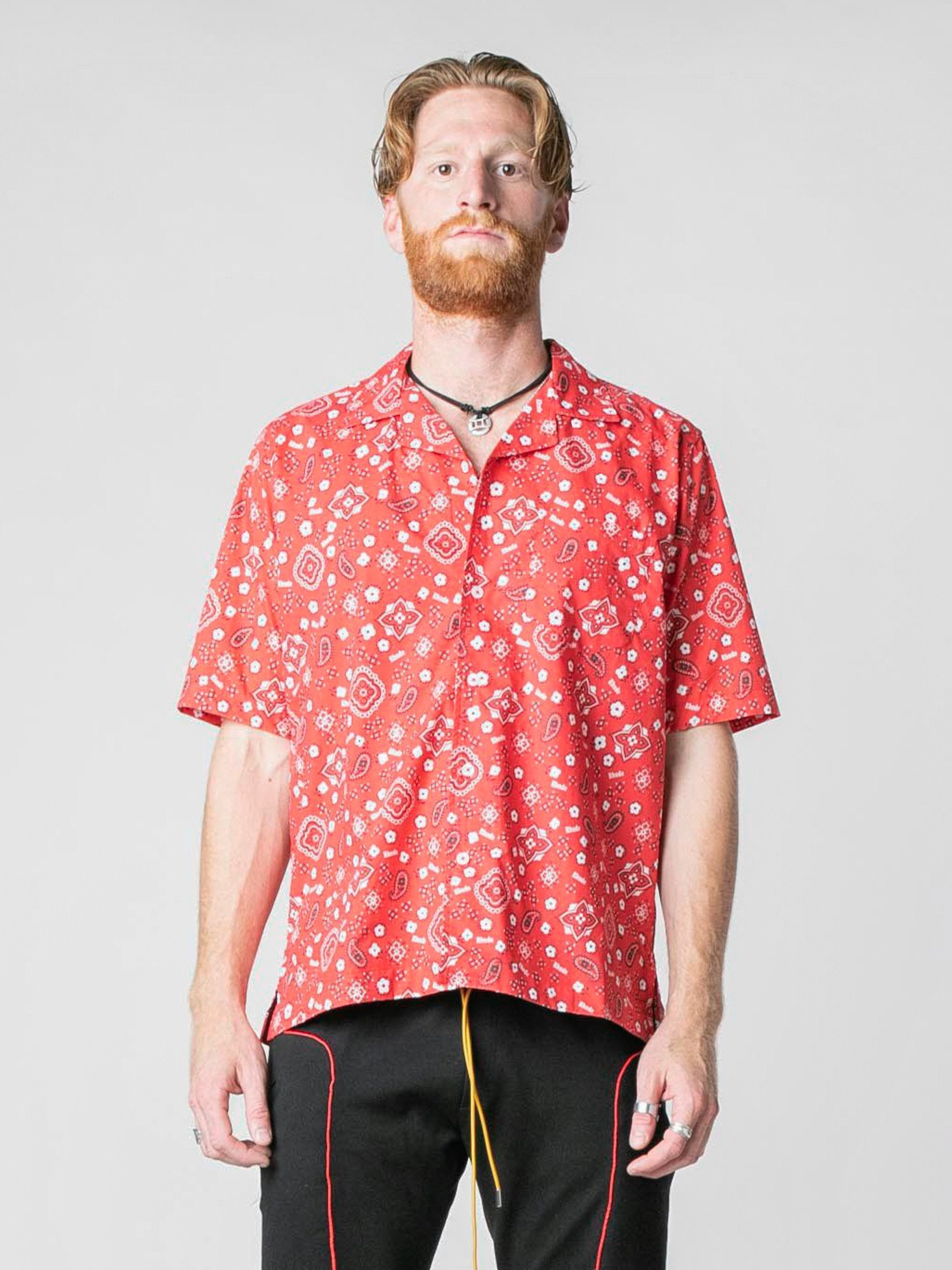 Red Bandana Hawaiian Shirt 2
