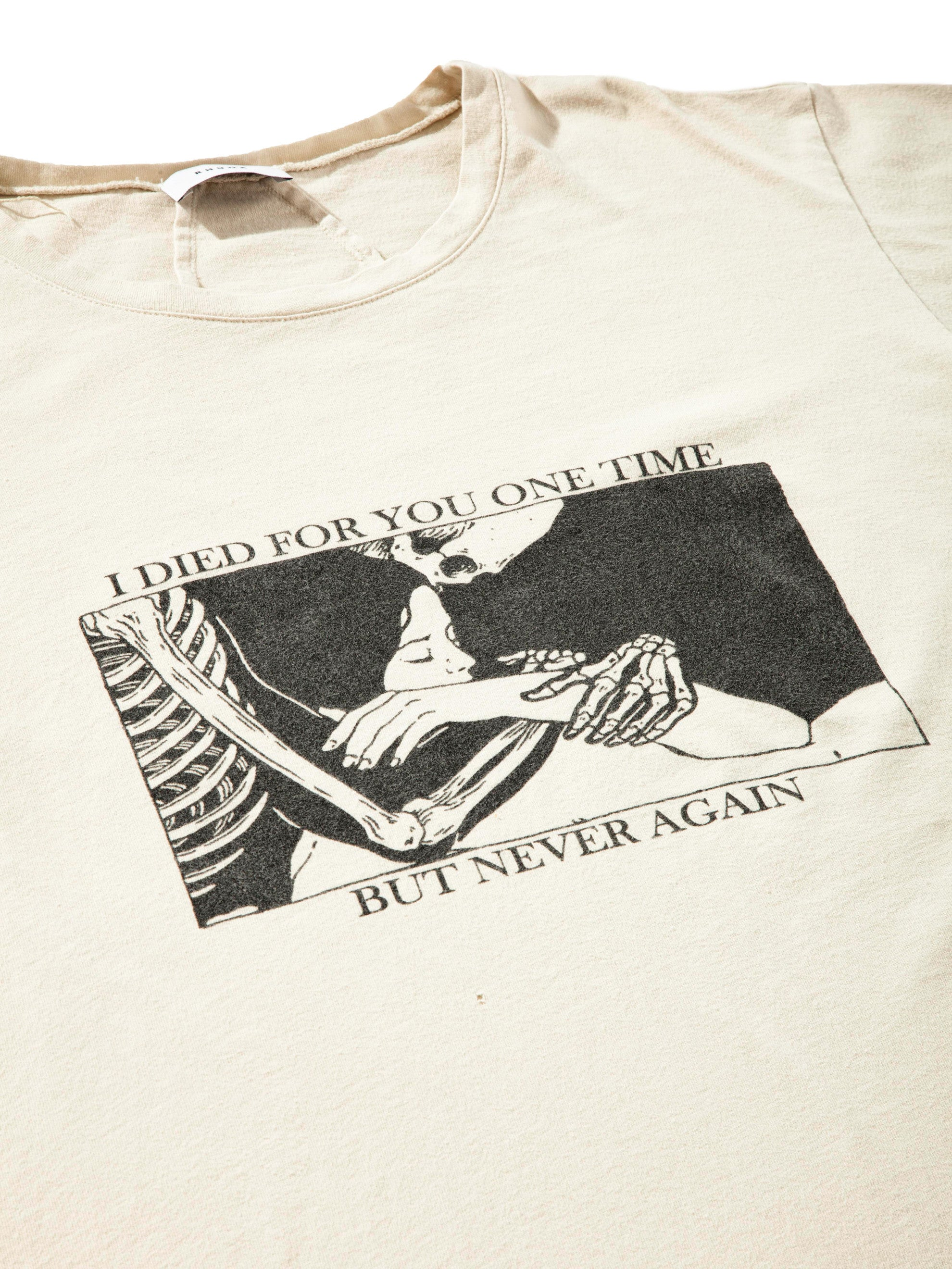 Vintage Black Never Again T-Shirt 4