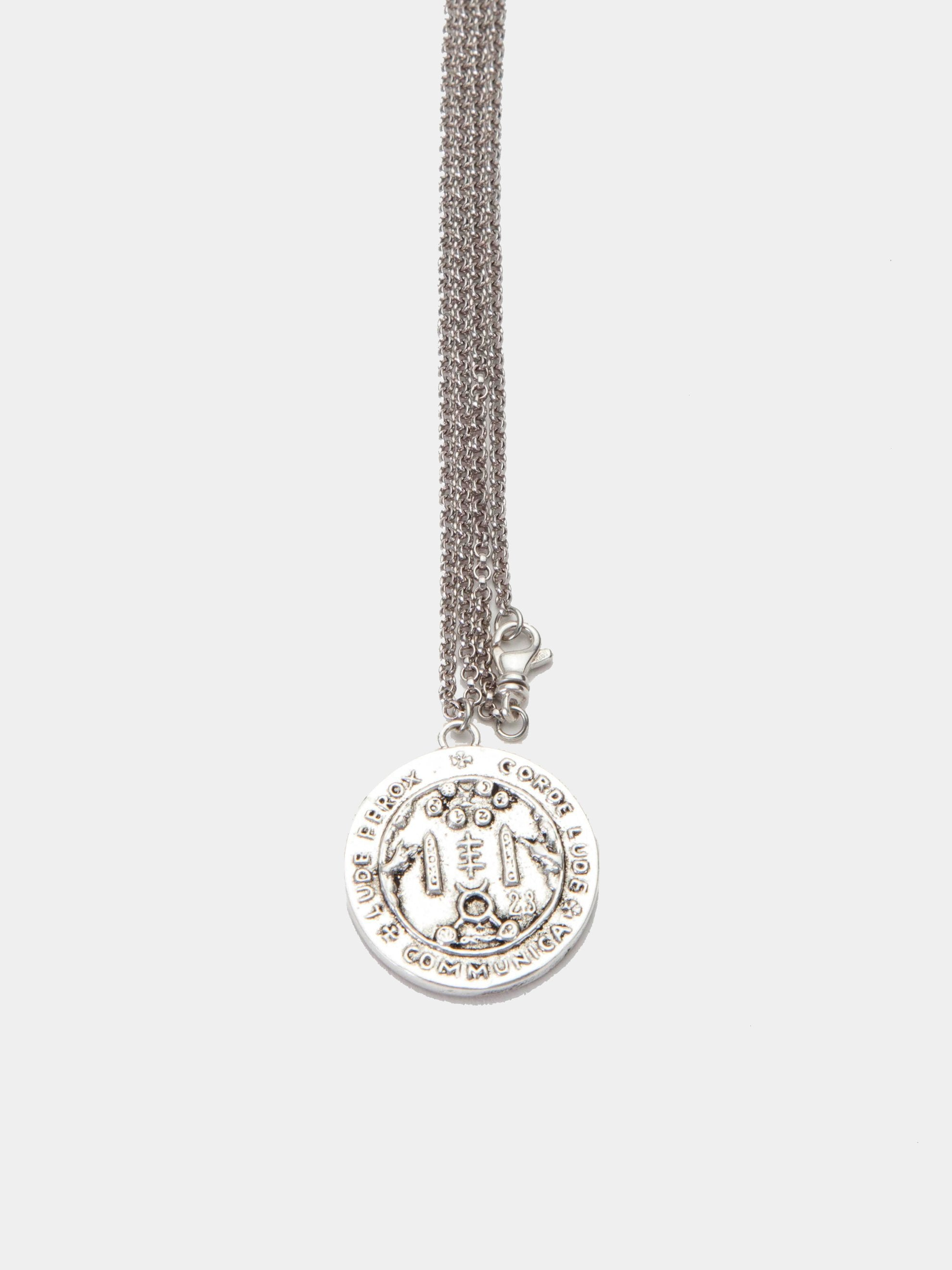 Sterling Silver Sigil Pendant Necklace 1