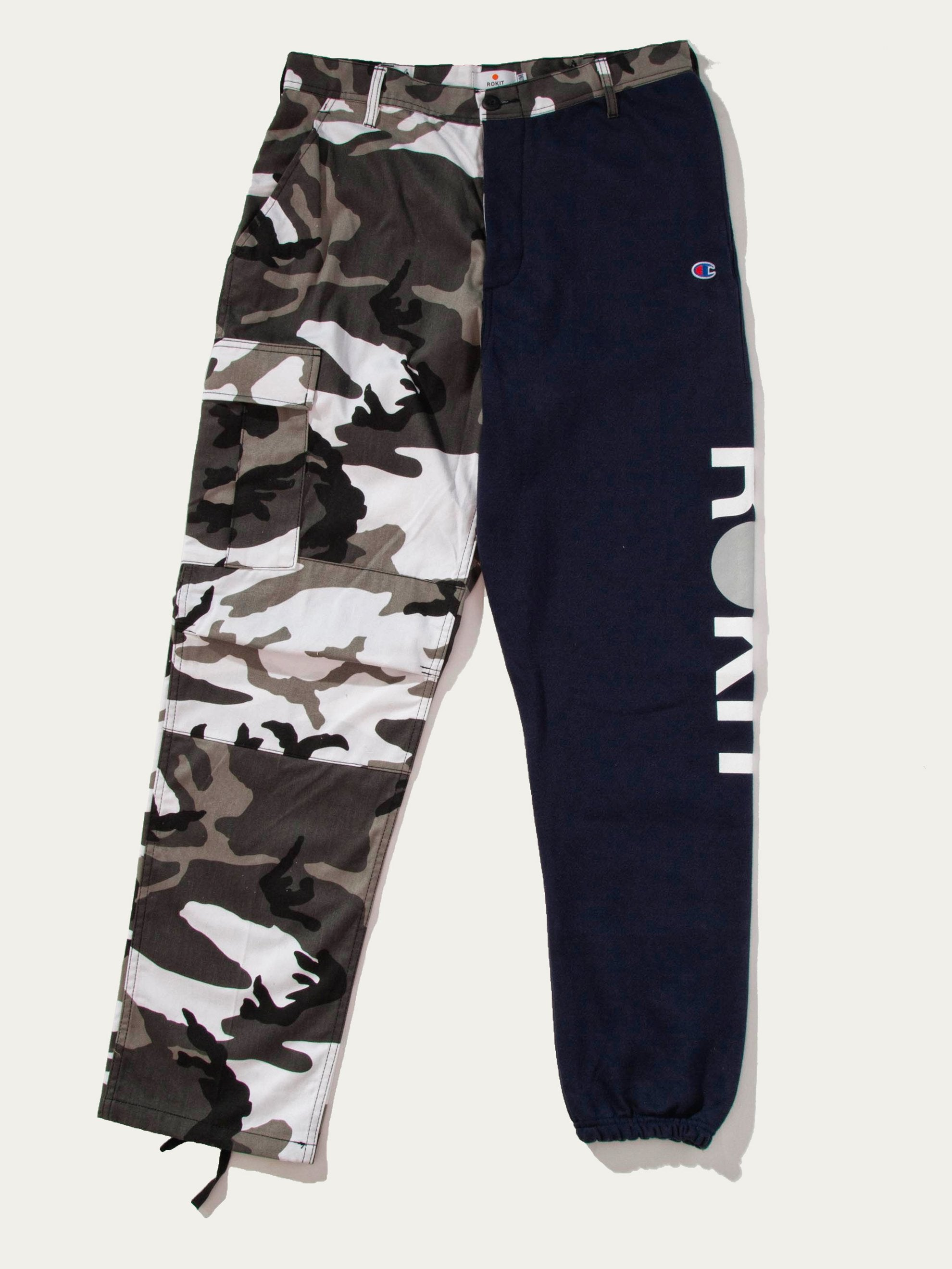Navy Ryder Two Tone Camo Sweatpants 1