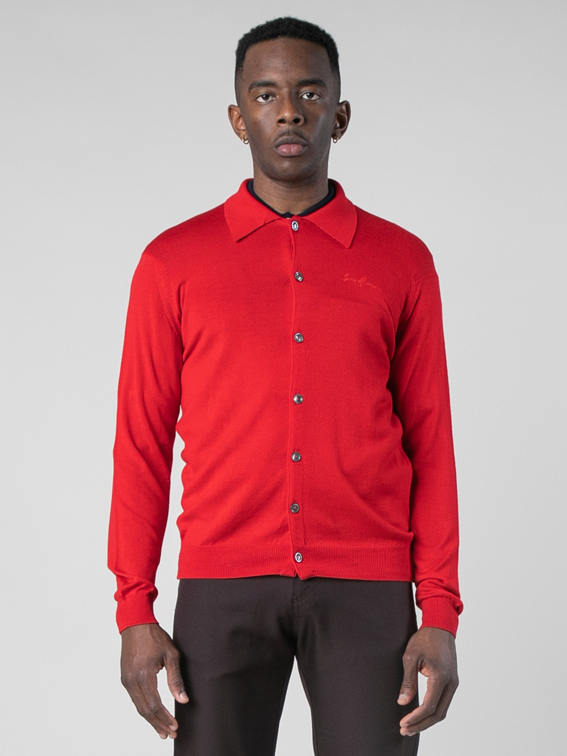 Red B-Side Button Down 2