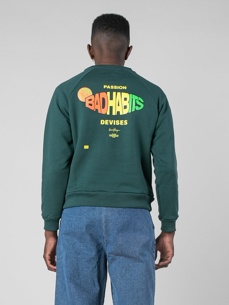 Bad Habits Raglan Crew Sweatshirt13801597501517