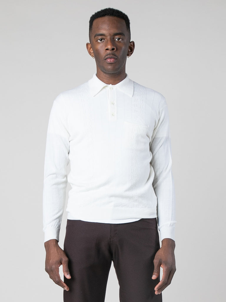 Blanc Polo Sweater 213801603235917