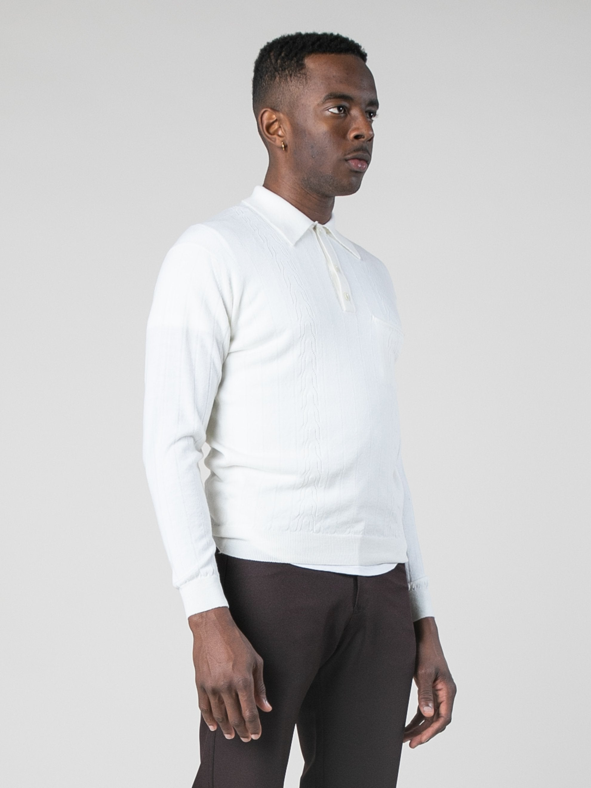 Blanc Polo Sweater 4