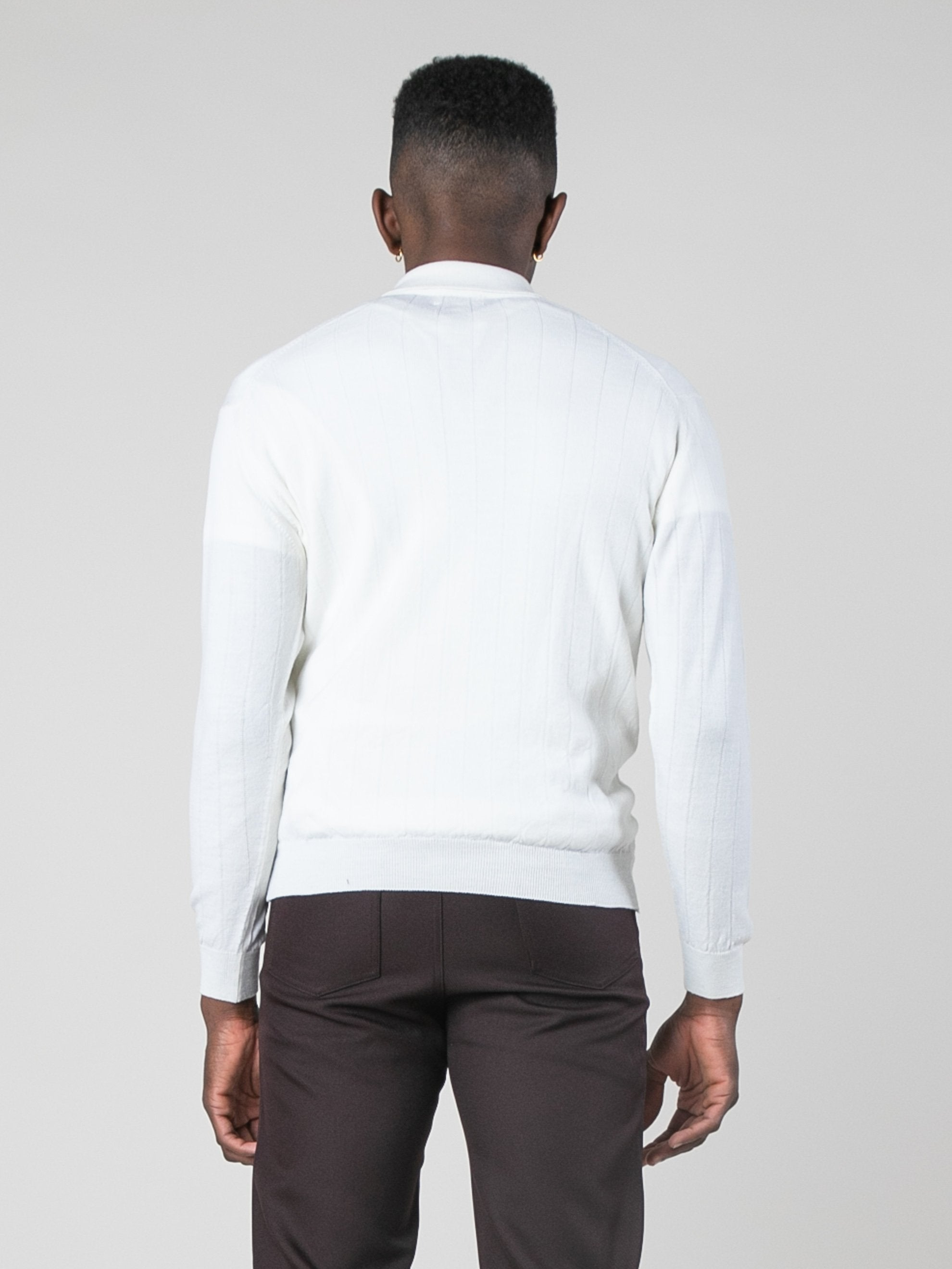 Blanc Polo Sweater 6