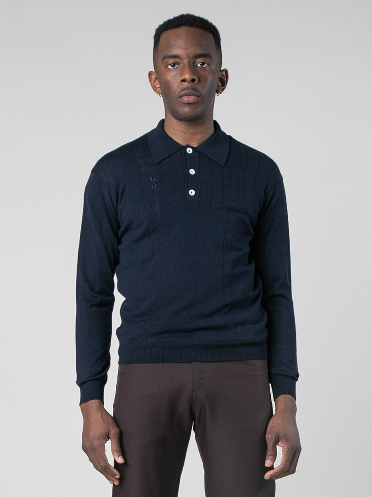 Midnight Polo Sweater 213801600843853