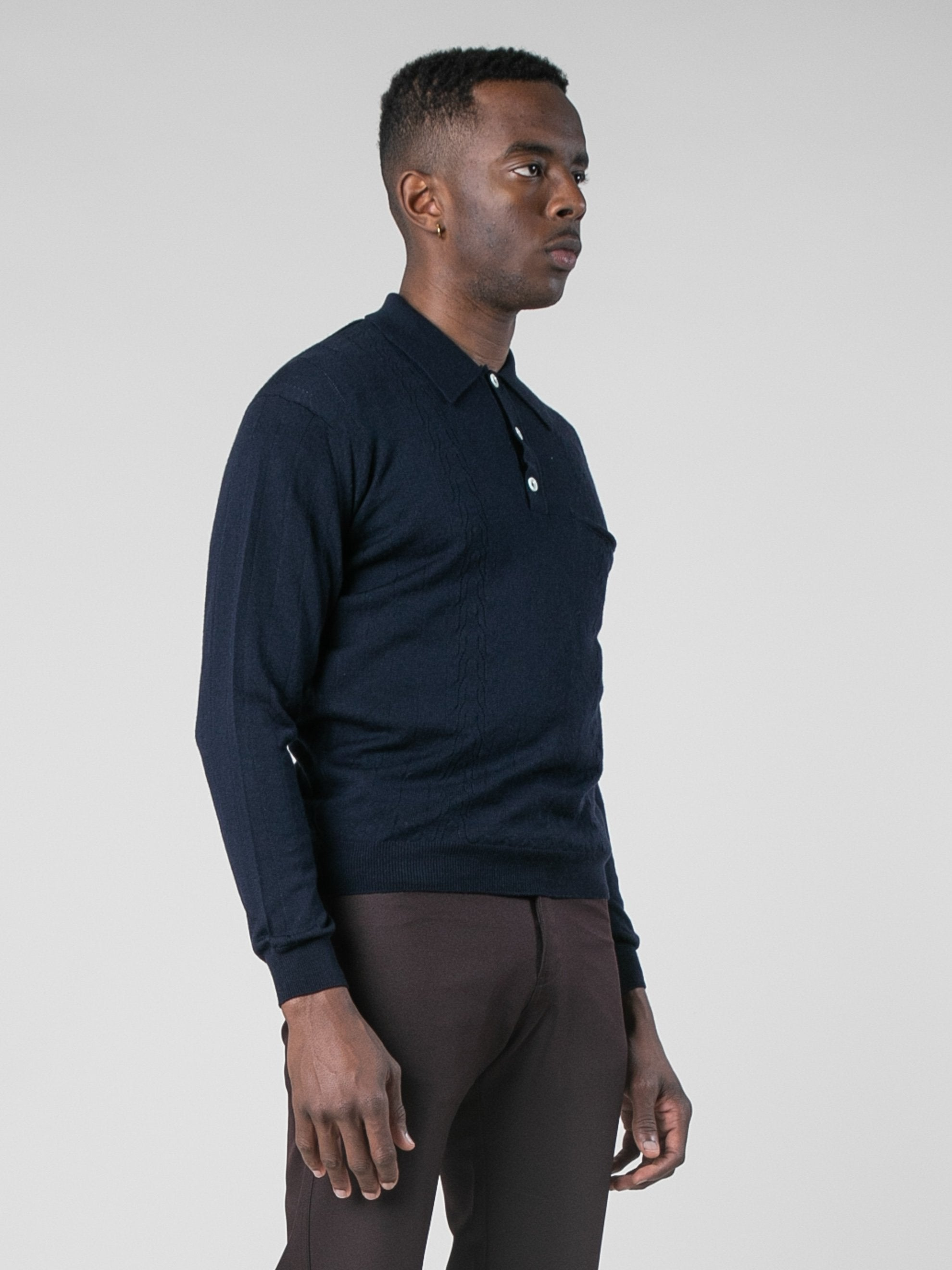 Midnight Polo Sweater 4