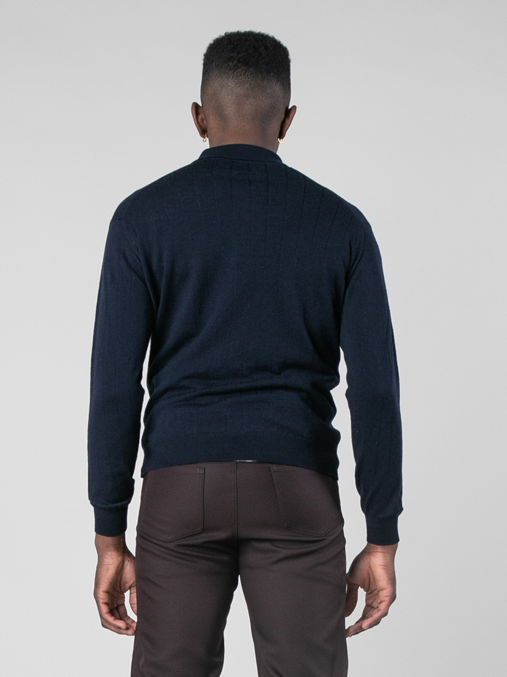 Midnight Polo Sweater 6