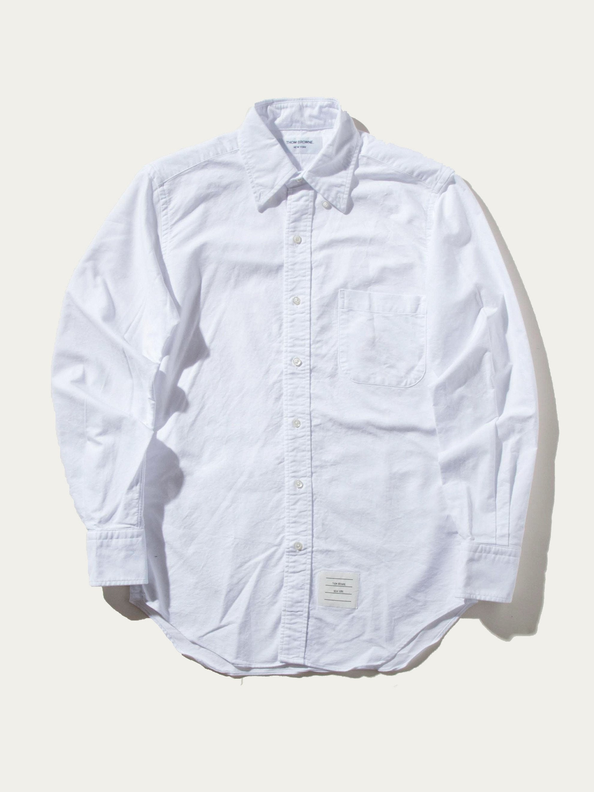White Classic Long Sleeve B.D. Point Collar (Engineered RWB Placket) 1