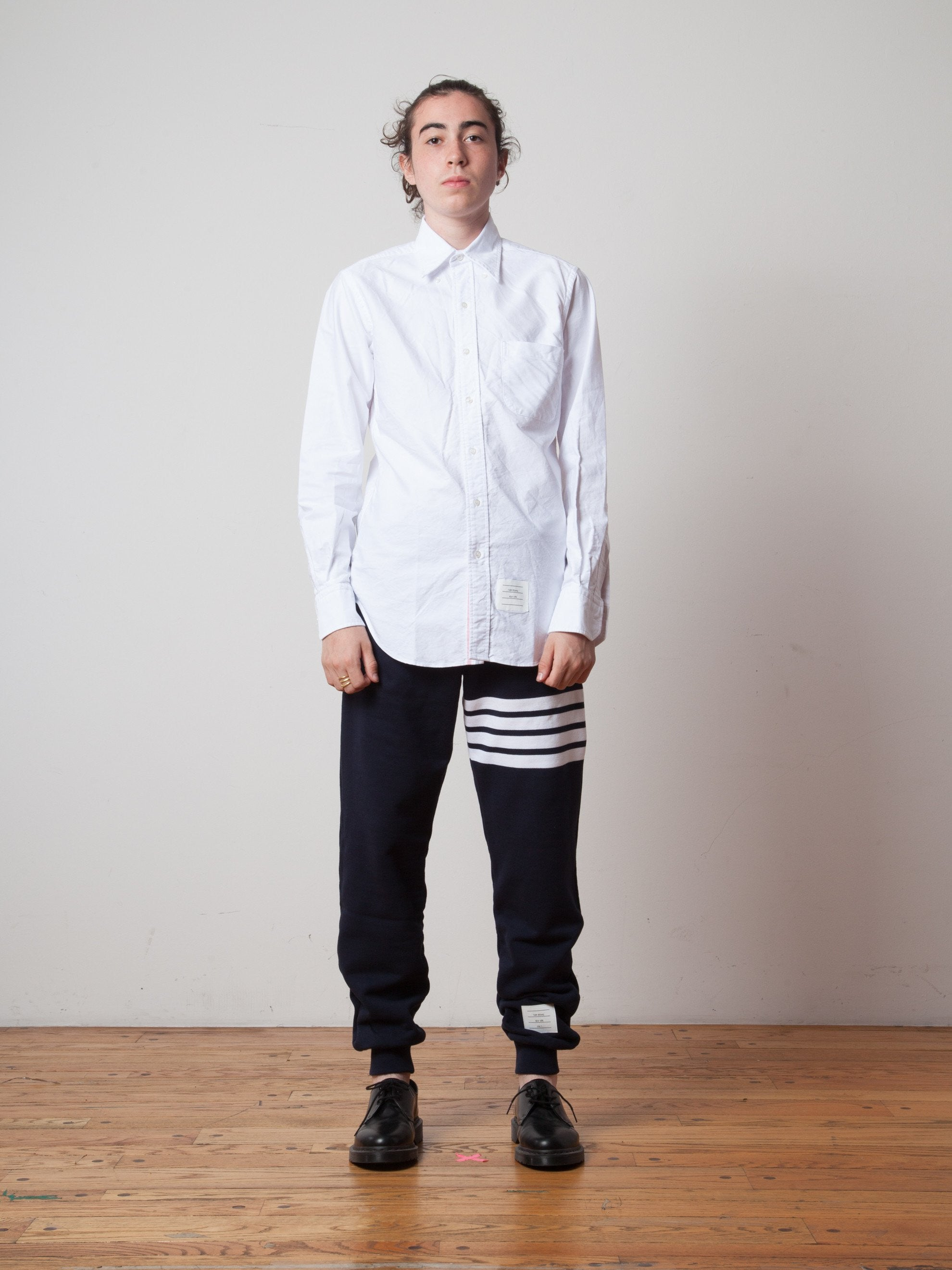 White Classic Long Sleeve B.D. Point Collar (Engineered RWB Placket) 2