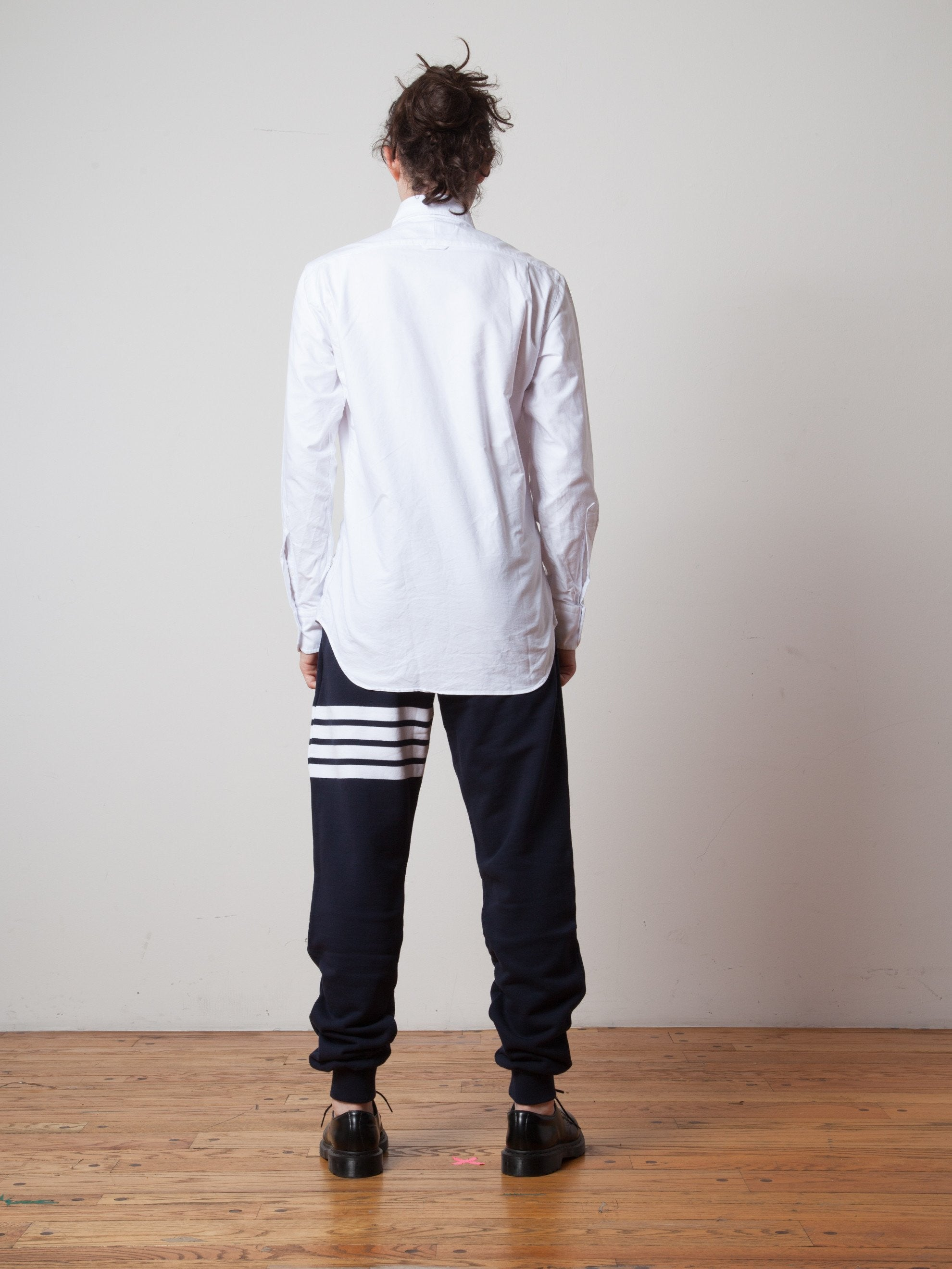 White Classic Long Sleeve B.D. Point Collar (Engineered RWB Placket) 3